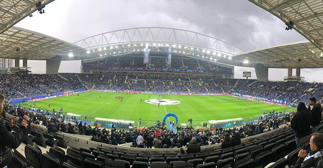 Here we go! Thanks to @chancel22 and @yannickbolasie for the hook up. Great stadium and what a city this is. Even in the rain! #RDCONGO #porto #lfc #ucl