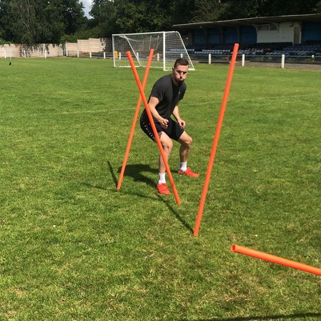 Good to catch up with @mutchjordon for some gym and fitness work.  Mix of extensive aerobic running and intensive technical work.  #football #nike #preseason #strengthtraining #Fitness #technical #cardio #soccer