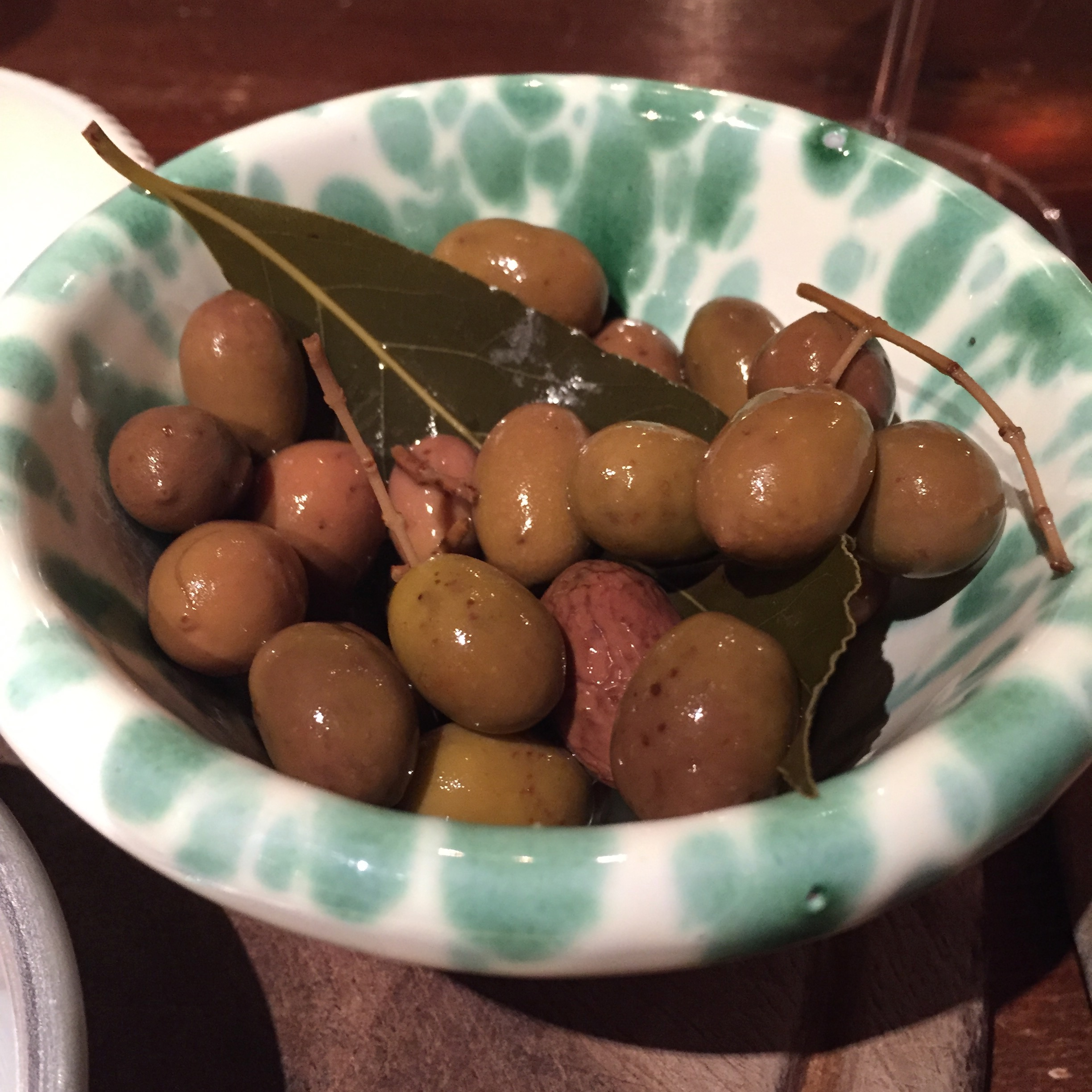 local cured olives at Assirto