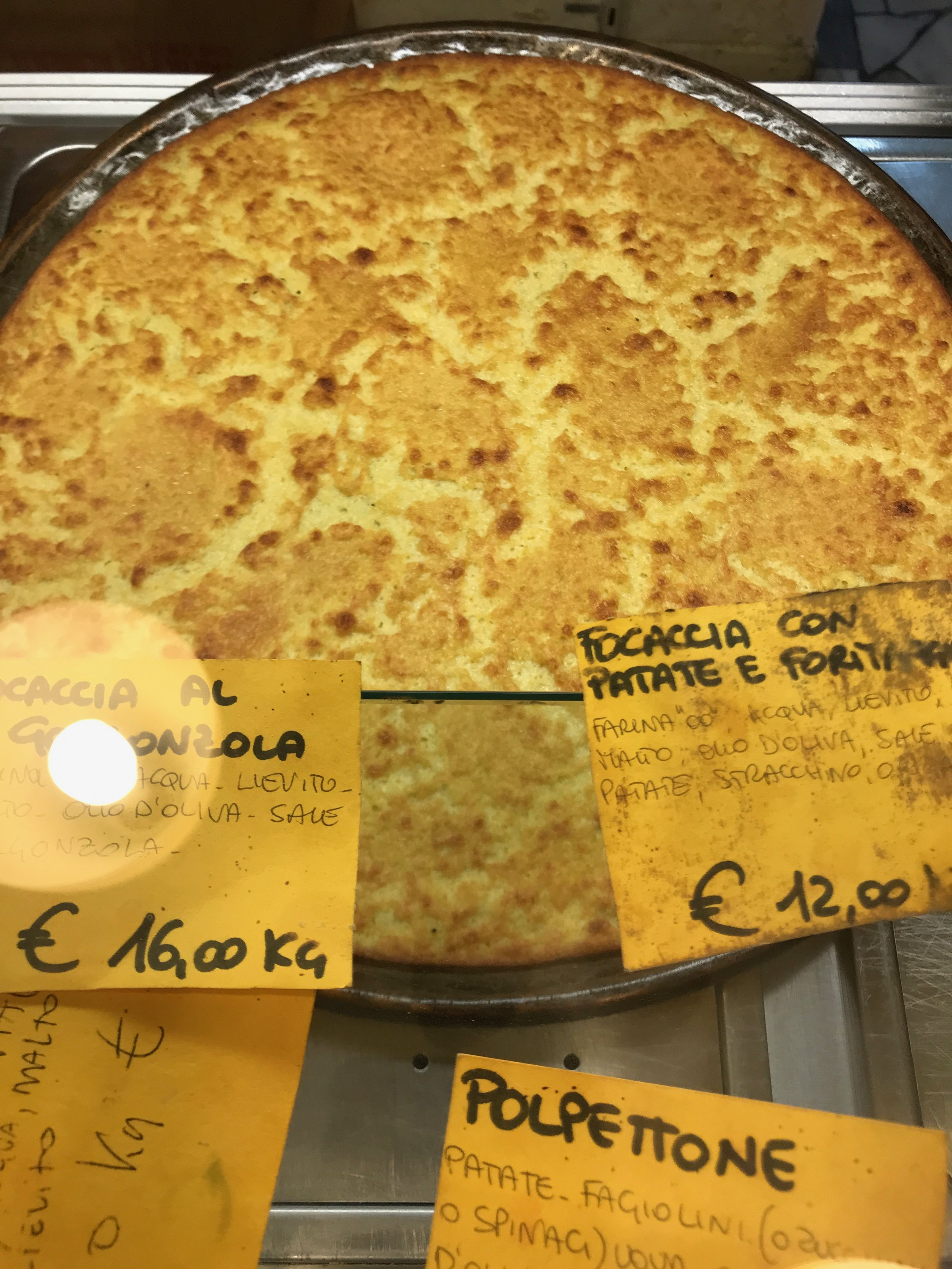Farinata chickpea pancake