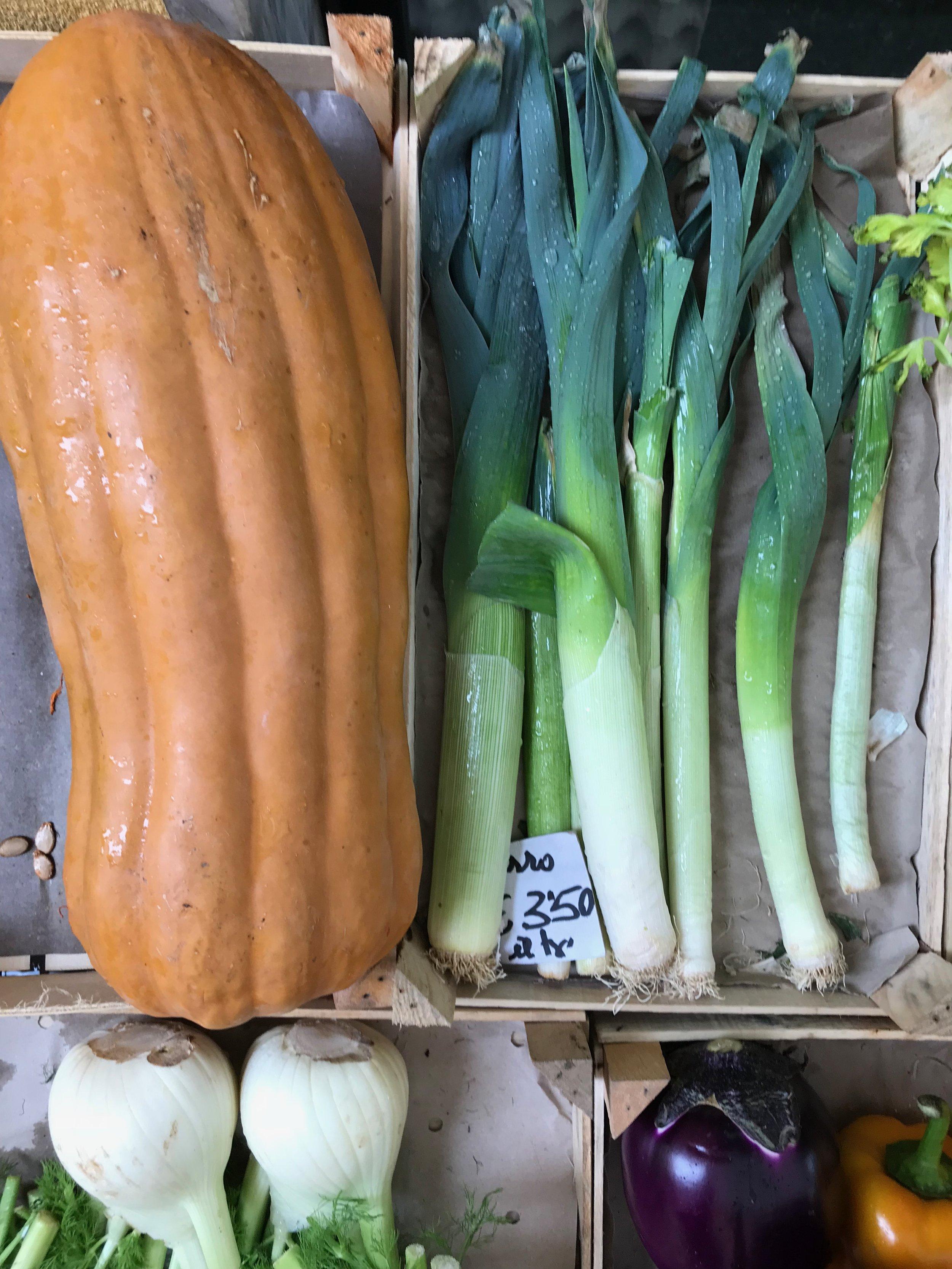 vegetables at the Moneglia market