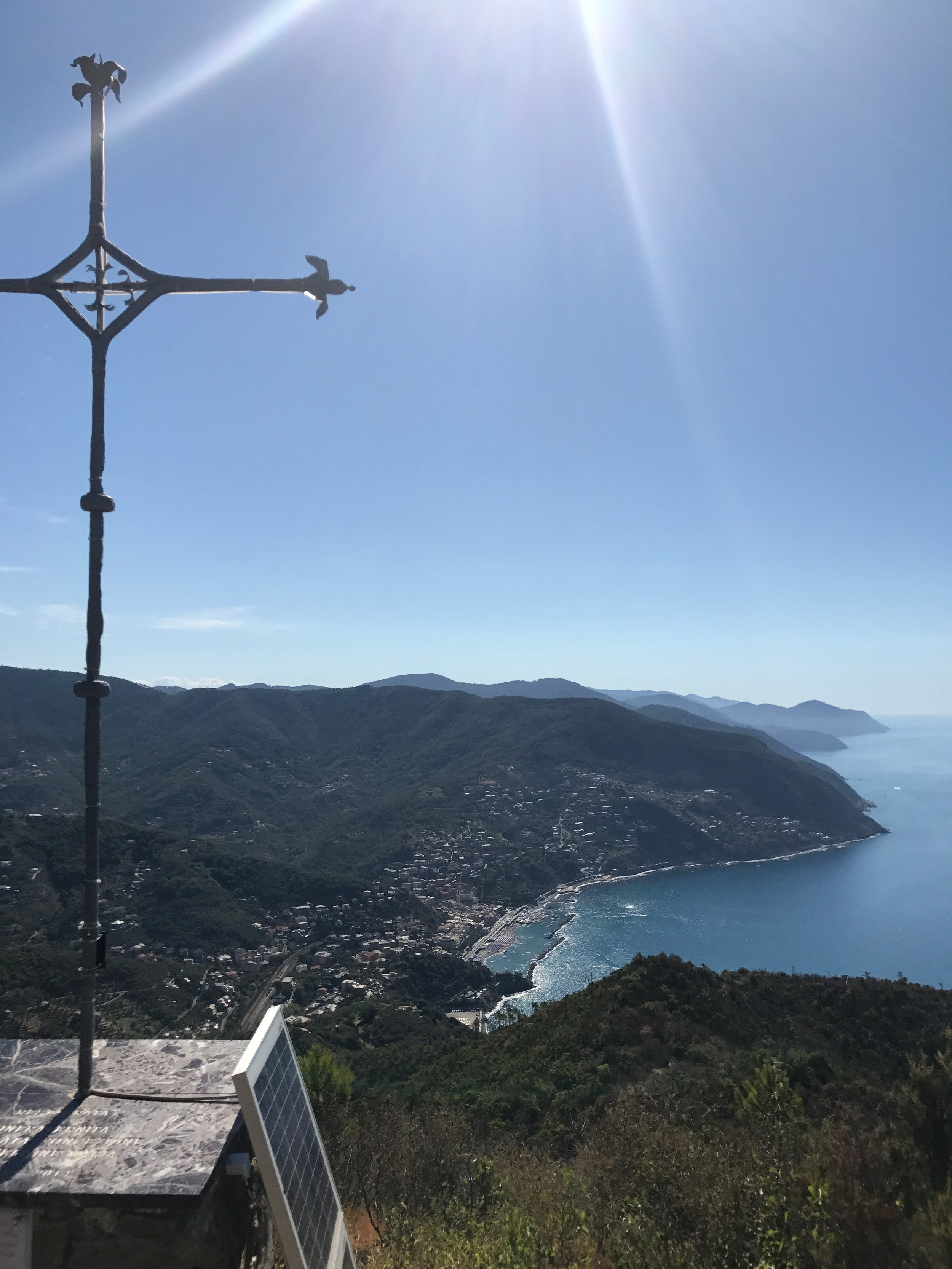 view from Punta Moneglia hike