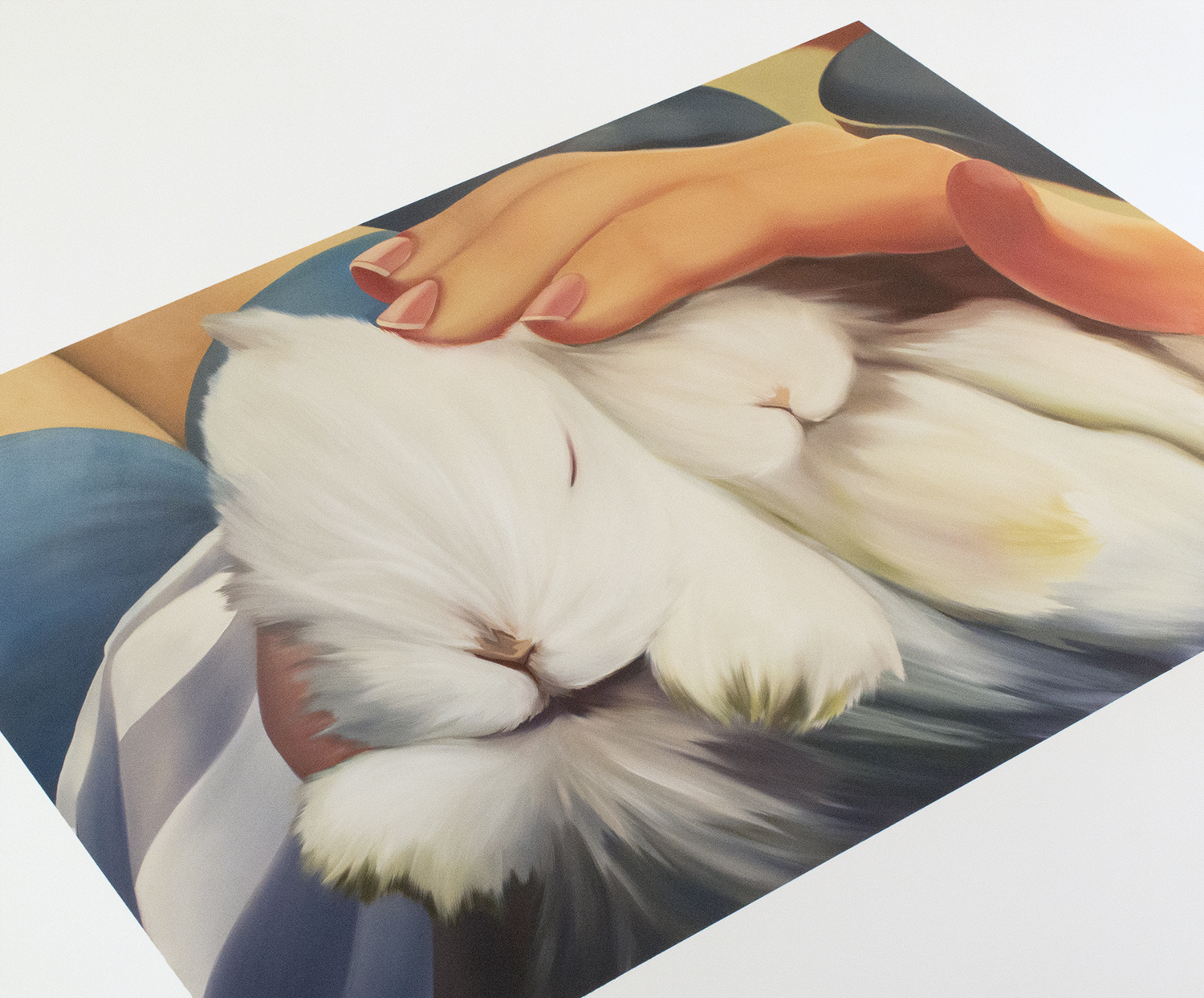 """Chill Out with Baby Bunnies, 5,  2017  Oil on canvas  60"""" x 72"""""""
