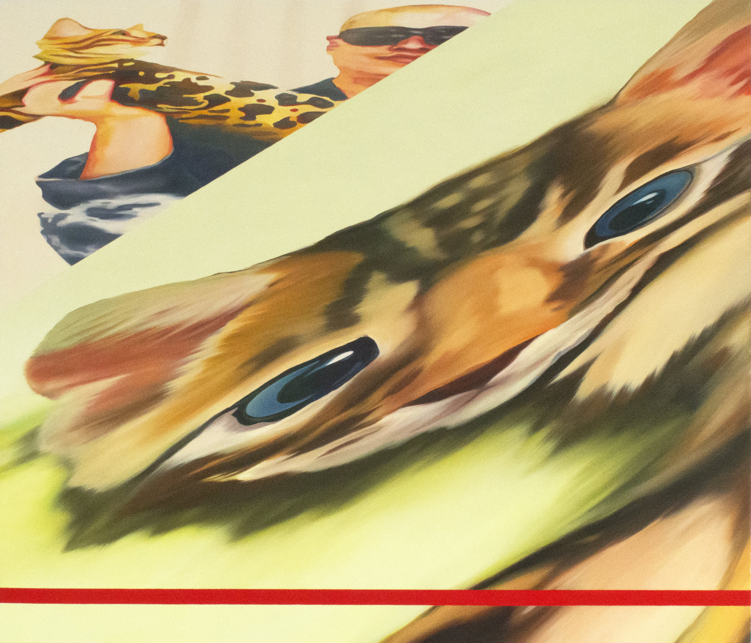"Gameover ZeuS,  2017  Oil on canvas  36"" x 48"""