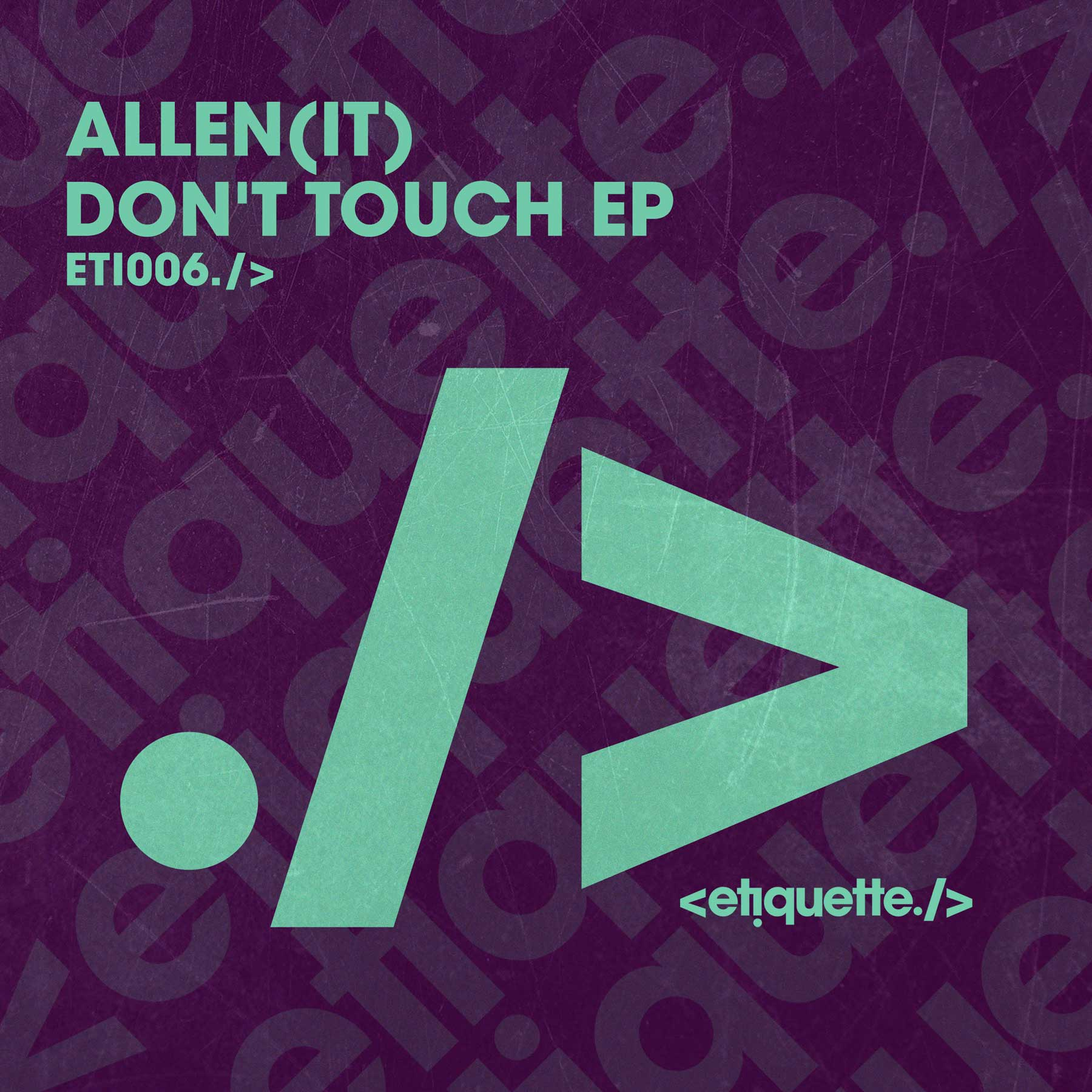"- Everyone at Etiquette HQ are EXCITED about this one... ""I've been playing Don't Touch My Drugs in my sets for months and it's one of my favourites, Allen (IT) was another producer on my hit list and I'm super gassed to be releasing this on Etiquette"". HW xBuy / Stream Link:https://etiquette.lnk.to/DontTouchEPEP"