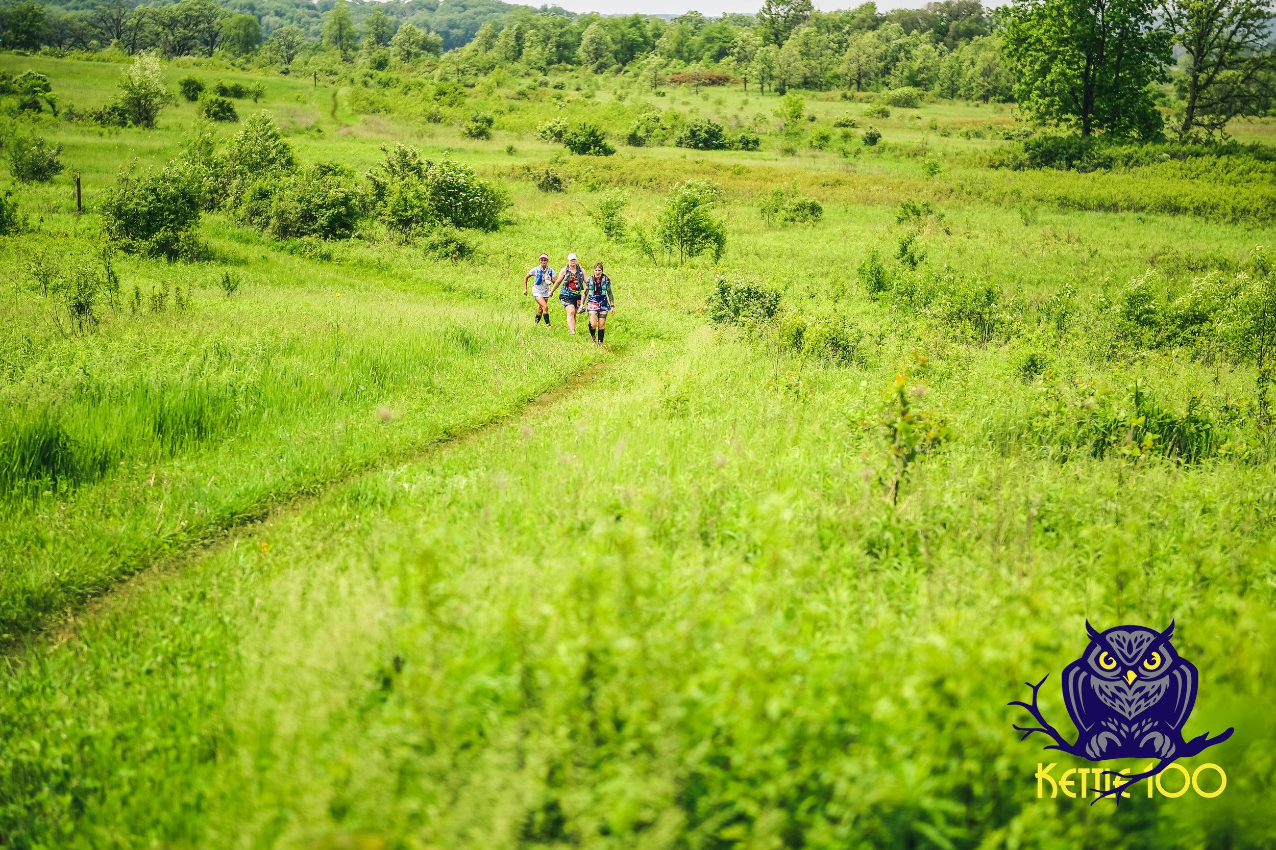 The meadows- Lisa McNair (Wyoming), Brandi Richter (Wisconsin) and Beiyi Wilson (Arizona)