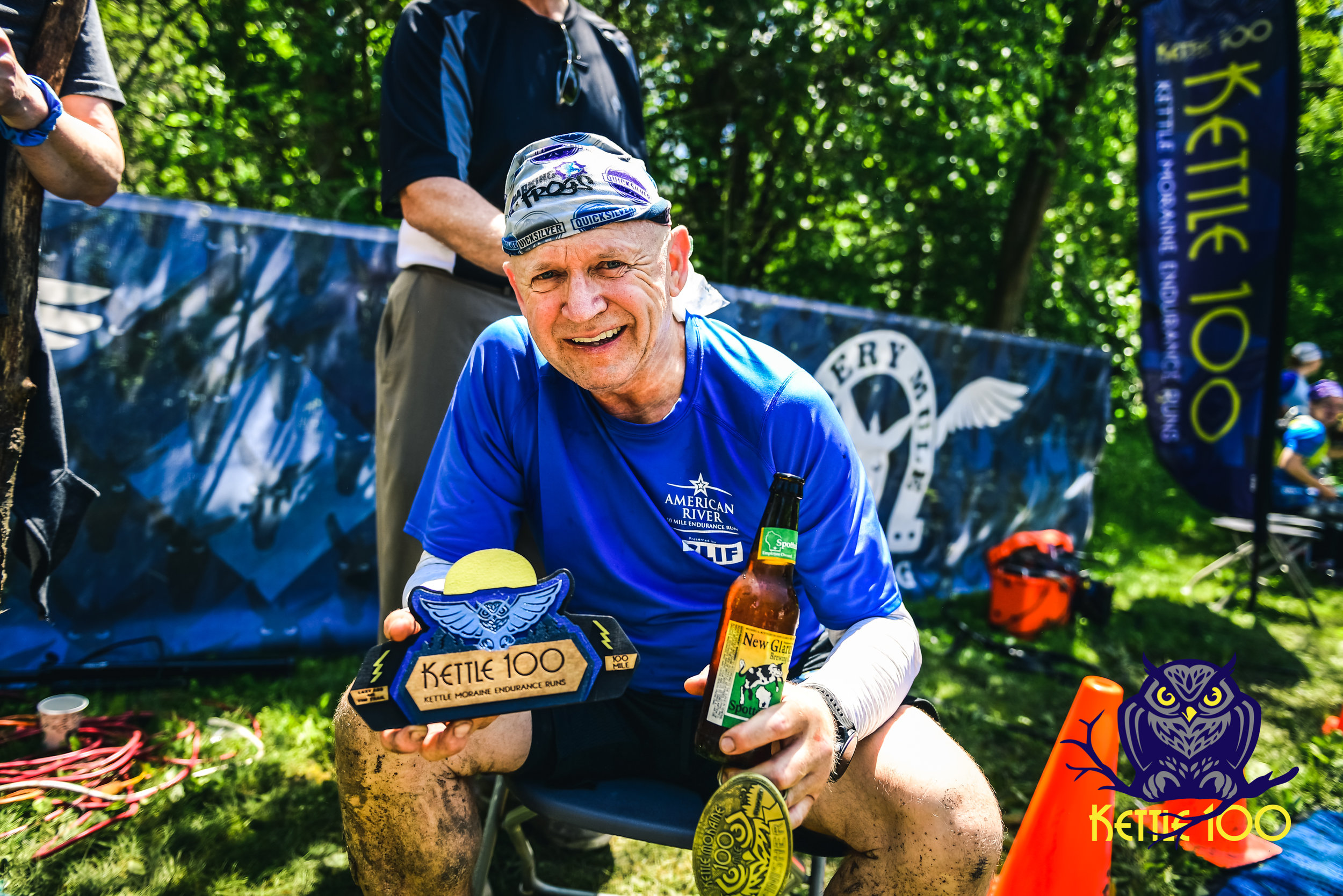 "Stephen Strauss from San Jose, California- 100 mile finisher    Winner of the ""Last Ass on the trail"" award with a time of 29:57:10"