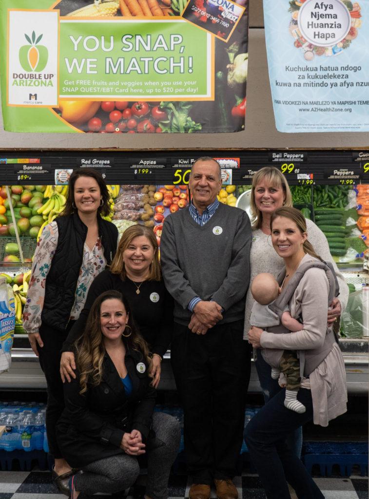 From left: Kelley Villa, Adrienne Udarbe, May Abraham, Eric Abraham, Trisha Stuart, Dawson and Jessie Gruner. Photo Courtesy of Daria Kadovik (Champion PR + Consulting)
