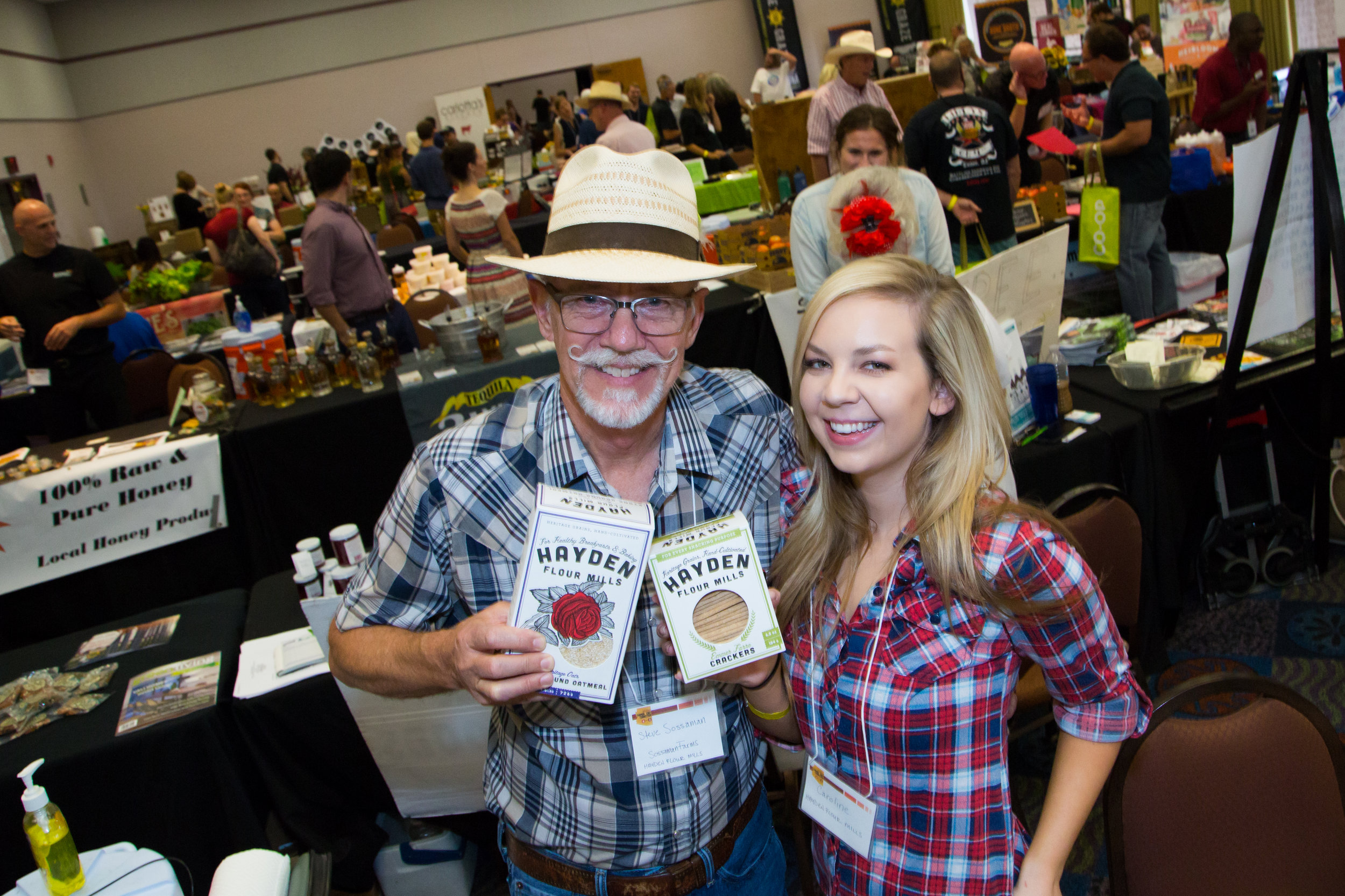 "Hayden Flour Mills - ""We owe our start to the AZ Good Food Expo. We showed up with nothing. No products. No samples. All we had was a sign that had our big idea on it - starting a local flour mill. Our crazy idea was received by amazing food community that was willing to help us get started. We have a thriving local food business because of the connections and people we met that day.""- Emma Zimmerman"