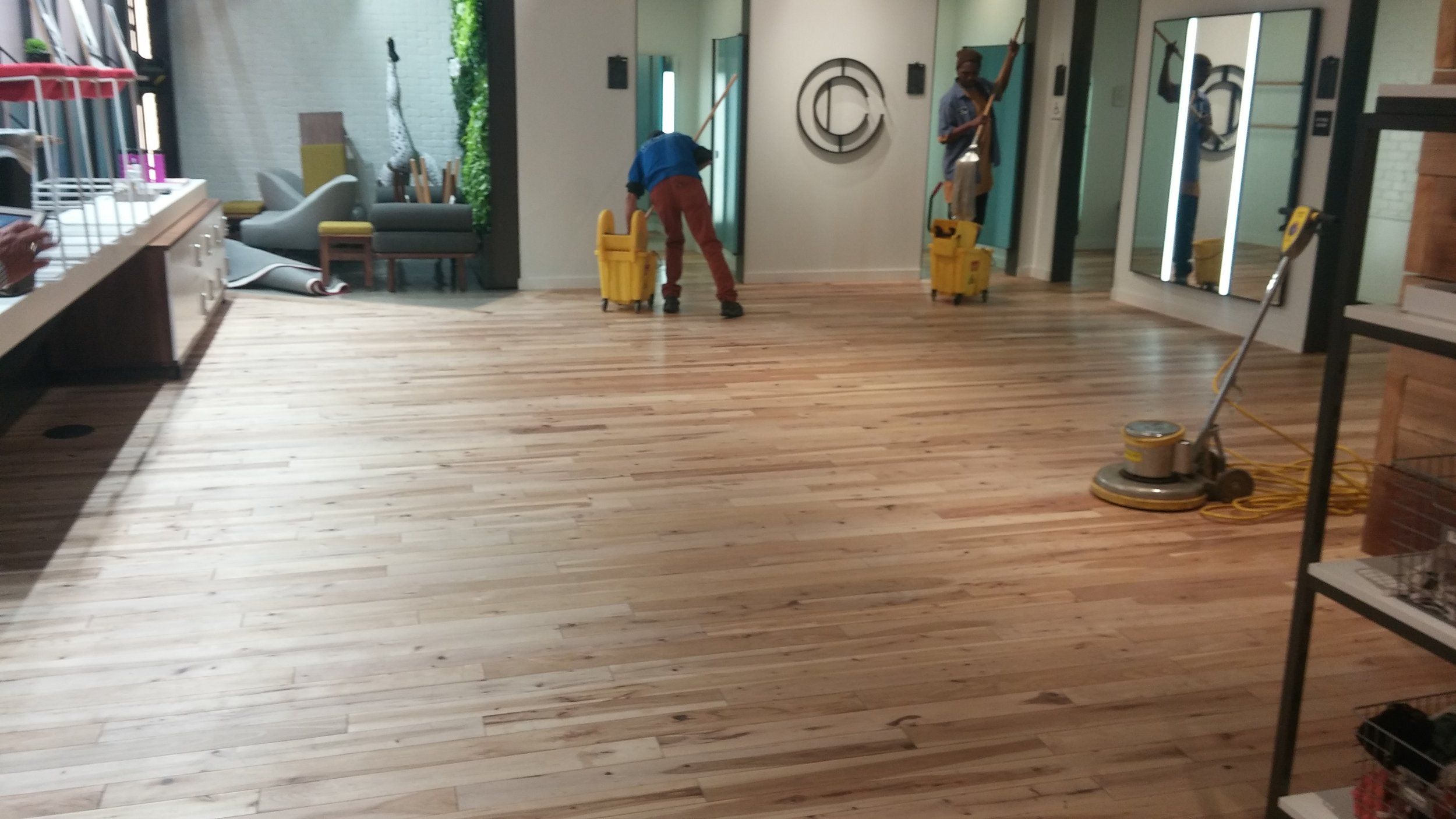 Re-oiling after flood, supervised by TB personnel.
