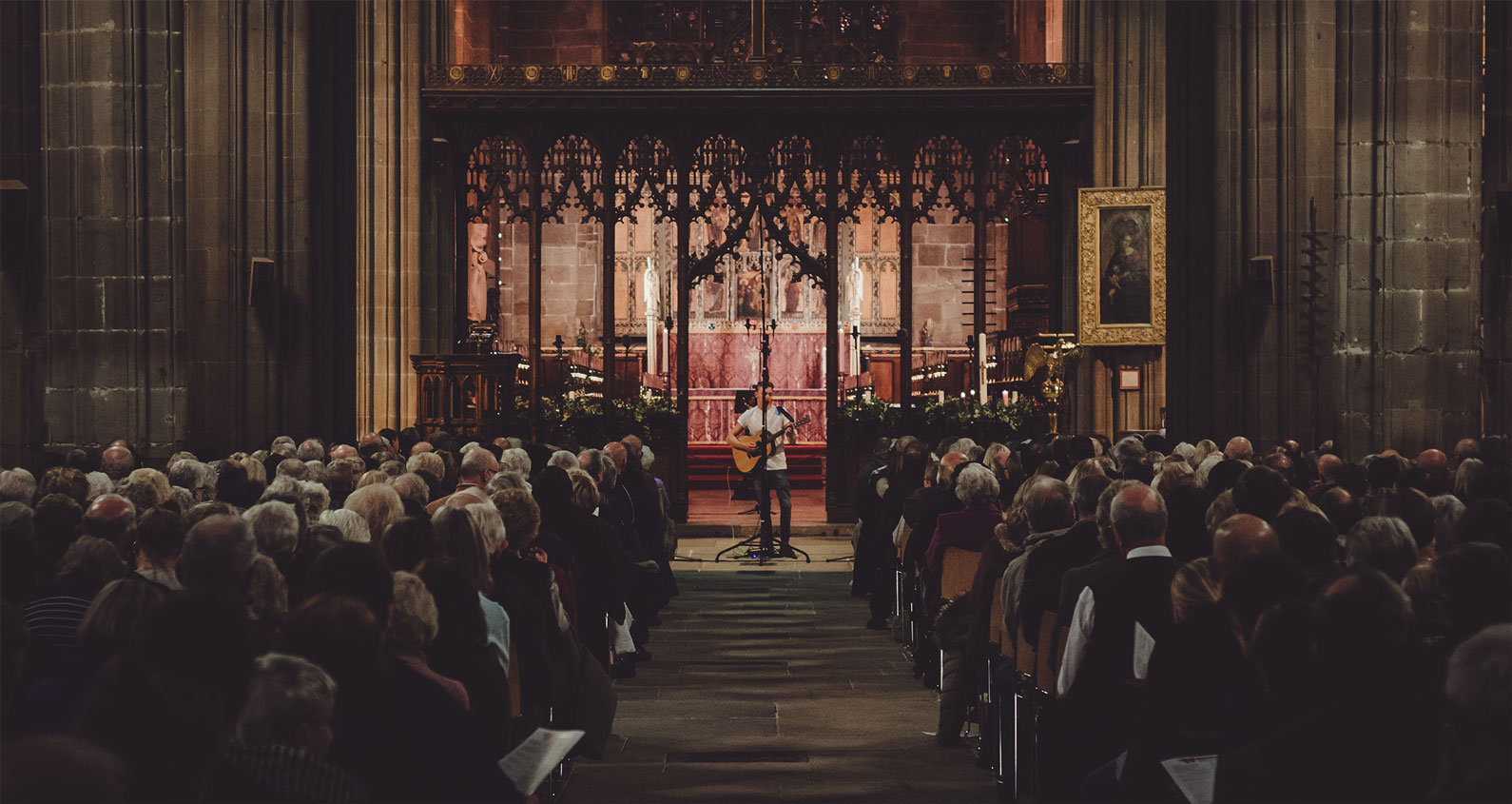 Performing live for the BBC Carol Service in 2015 at St Mary's Church in Nottingham.
