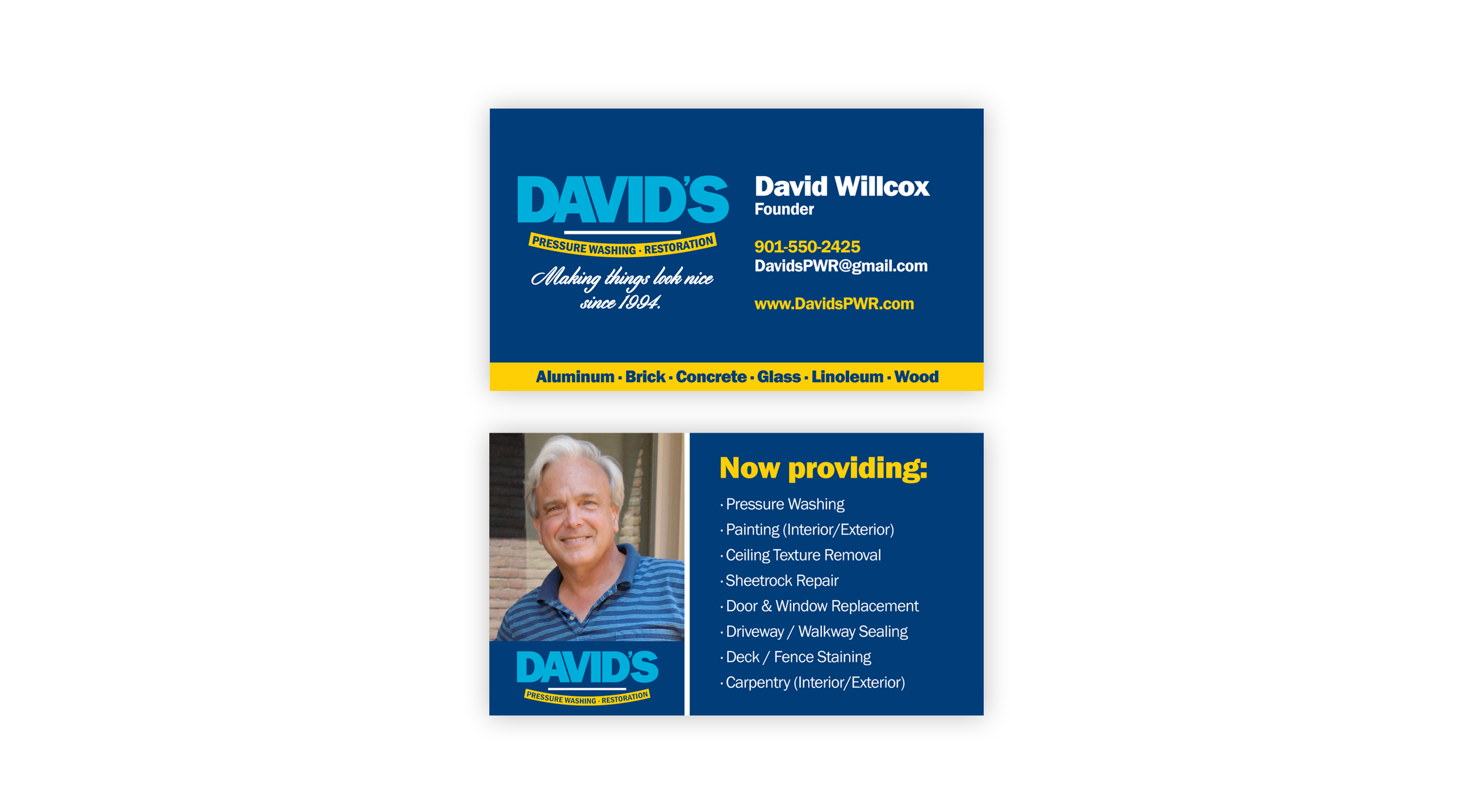 Davids-Power-Washing-and-Restoration_Business-Cards_Print-Design_Dreamcapture_Memphis-TN