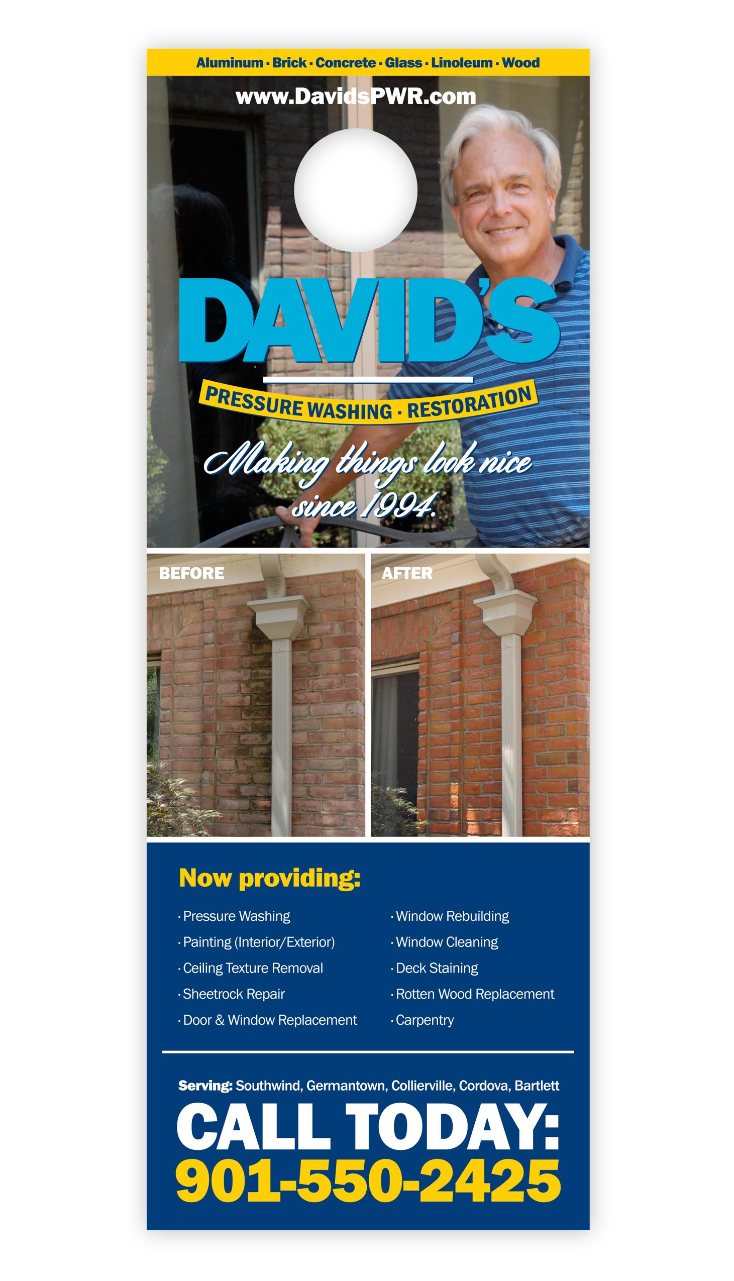 Davids-Power-Washing-and-Restoration_Door-Hanger_Print-Design_Dreamcapture_Memphis-TN
