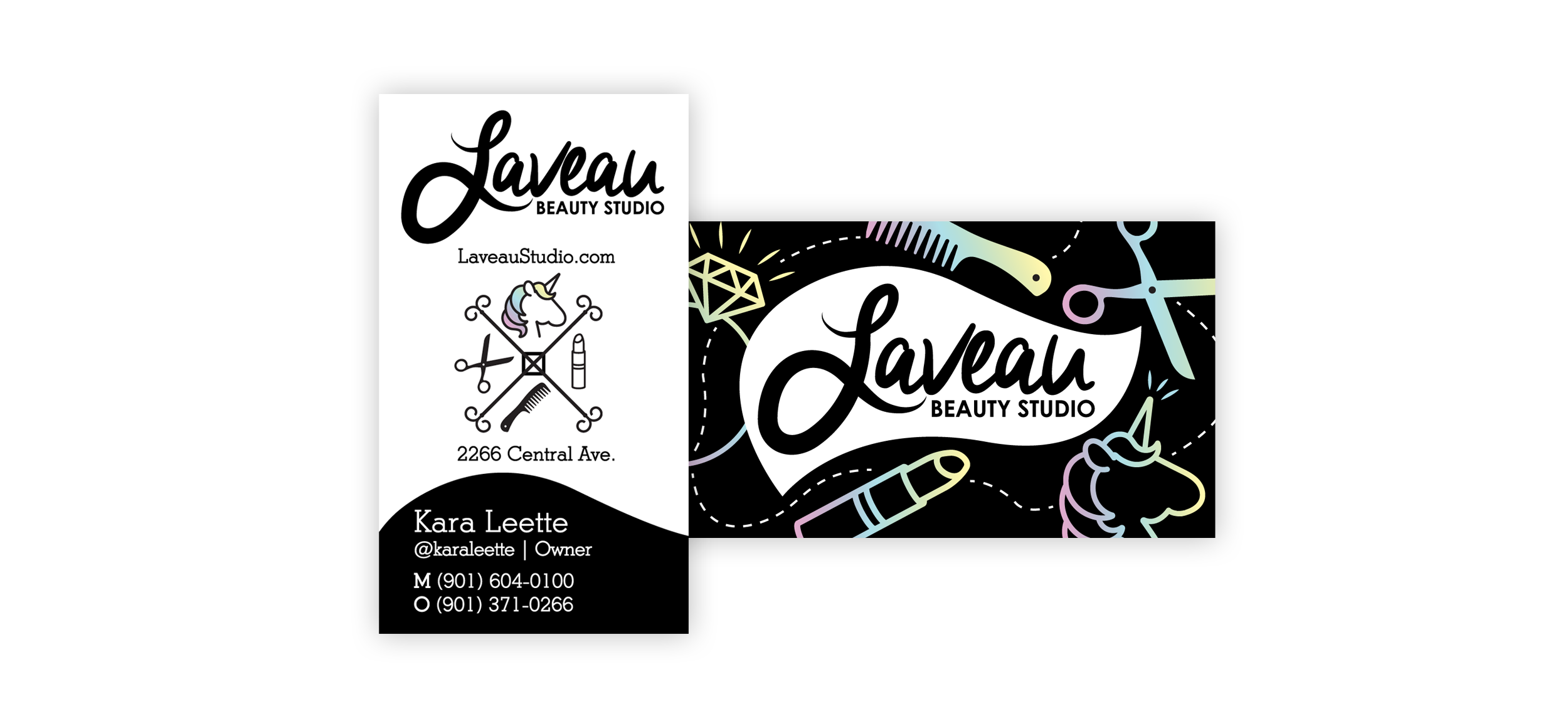 Laveau-Beauty-Studio_Business-Cards_Print-Design_Dreamcapture_Memphis-TN