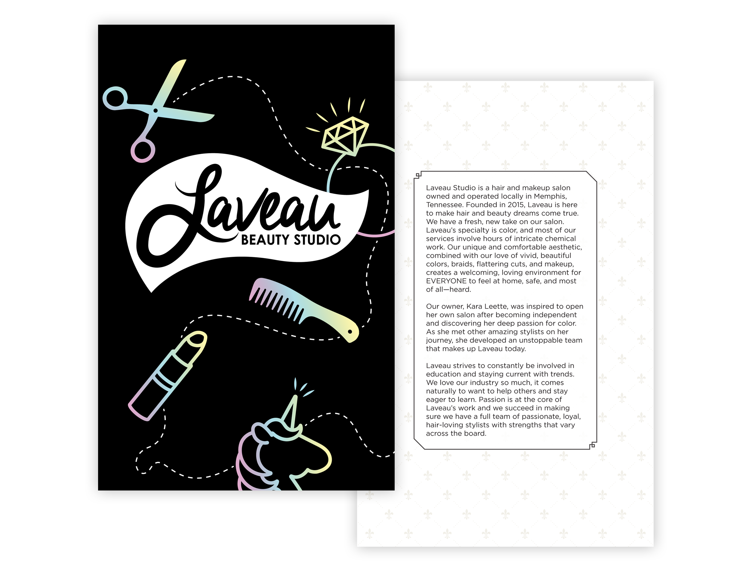 Laveau-Beauty-Studio_Menu-Design_Print-Design_Dreamcapture_Memphis-TN