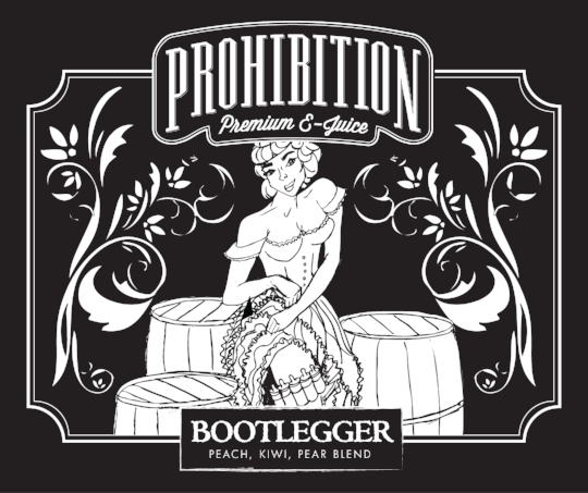 Prohibition-EJuice_Bootlegger-Label_Packaging-Design_Print-Design_Dreamcapture_Memphis-TN