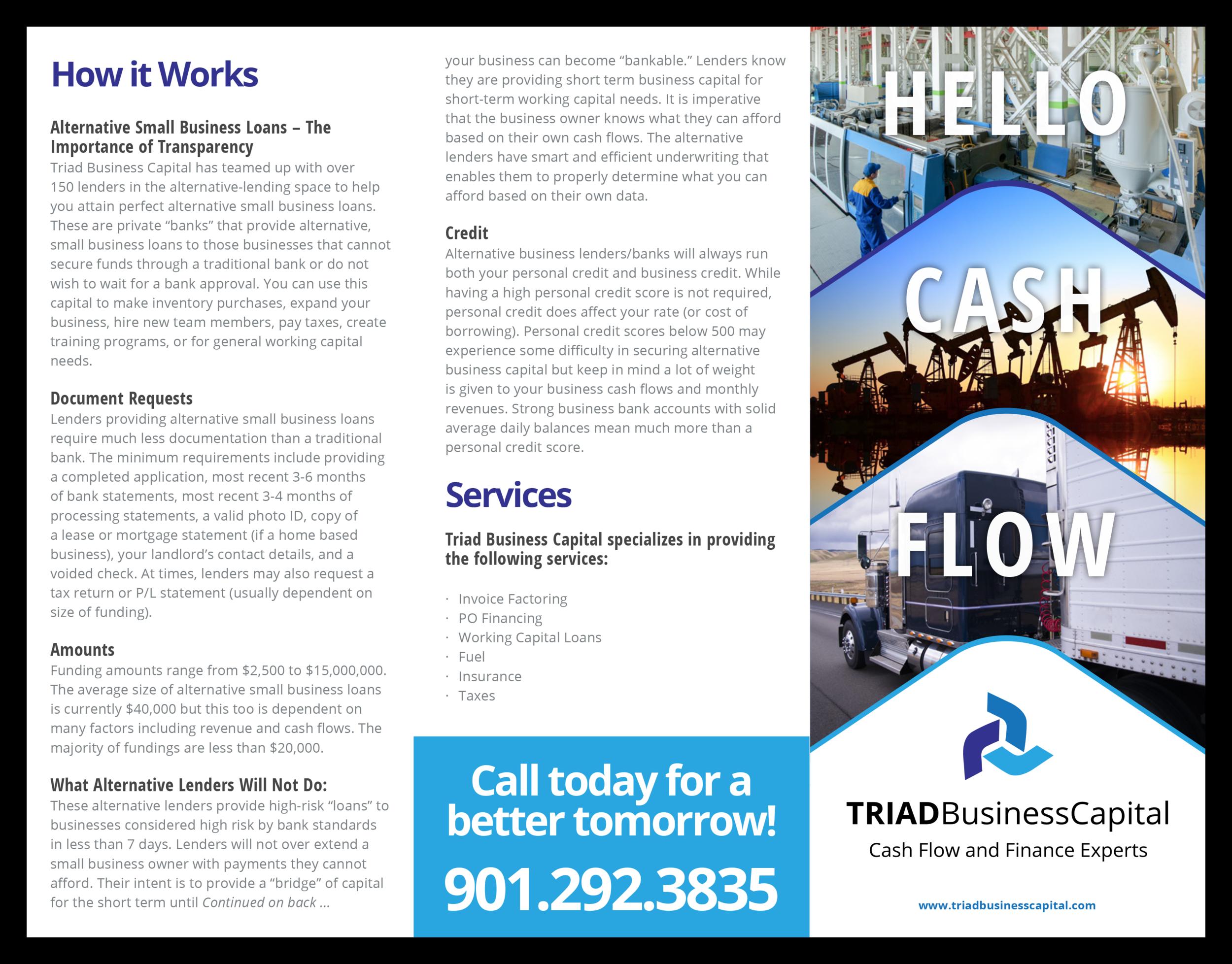 Triad-Business-Capital_Brochire-Design_Print-Design_Dreamcapture_Memphis-TN
