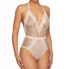 Crème De La Crème Halter Bodysuit