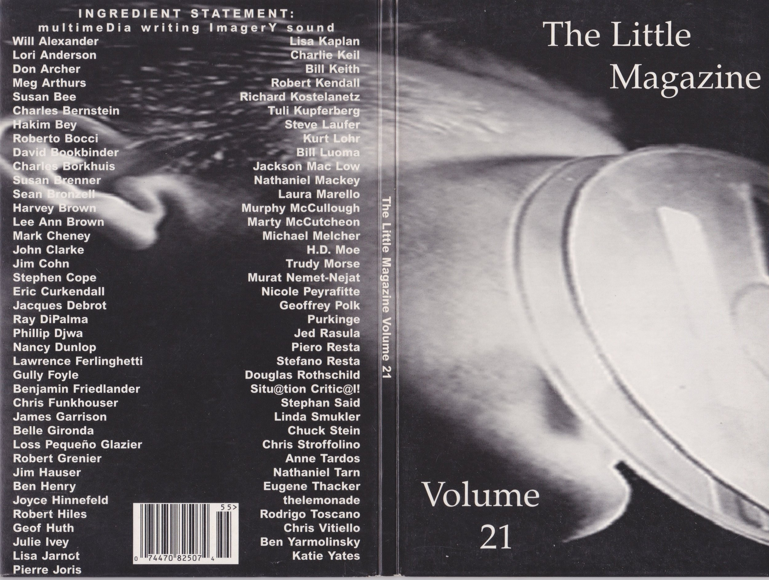 """When I was a doctoral student at the University of Albany, I had the good fortune of being Poetry Editor for   Volume 16   of  The    Little Magazine     and Co-Editor with   Jan Ramjerdi   for   Volume 17 . But the real exciting time for the magazine was when it went digital under the editorship of   Chris Funkhouser  ,   Belle Gironda   and Ben Henry. I am still hunting for online versions. No luck. Our early experiments with hypertext are lost?  I particularly mourn the loss of the online   The Little Magazine Volume 21.3 , MAPPING , which included my piece """"Door Where Carol Merrill is Still Standing."""" Luckily, scholar Karin Sanders wrote about the piece while it was still online. See    Bodies in the Bog and the Archaeological Imagination  . """"If you click on Anderson Moseman's cyber poem door, you can read about the obedient Carol Merrill; known by a generation of Americans as the quintessentially smiling but mute TV game hostess whose gesture toward the doors (in Moseman's optic) become a spectacle of sacrifice, not of the bog girl but of the participating 'victim' in the greed play of consumerism. If you choose the wrong door and win a goat instead of a car you are, so to speak, sacrificed to the laughter of the audience and viewers. That's the name of the game. In that game, the bog girl challenges the slick host, Monty Hall, as the poem insinuates a carnality of sacrifice different than one to which she was submitted two thousand years ago."""" Luckily the text of the poem survives in my collection  PERSONA .  Thanks to Chris Funkhouser, 150 video and audio files from   Volume 21   of have been salvaged. Funkhouser talks about how co-editor/producers Belle Gironda and Ben Henry made of this CD-ROM in an article on    Jacket2  : """"The CD-ROM publication,   The Little Magazine, Volume 21   (1995), featuring 77 artists, contains 127 audio (.wav) files, many which I recorded; an entire section of the project was devoted to vocal readings, including recordings of Joh"""