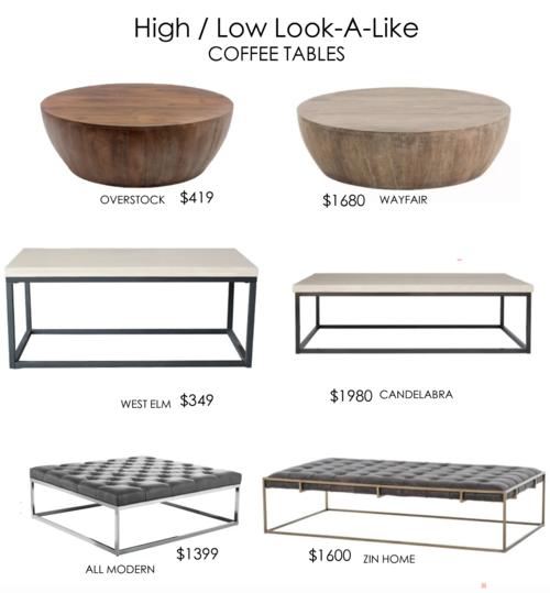 High Low Look A Like Coffee Tables Nita Tandon Interiors