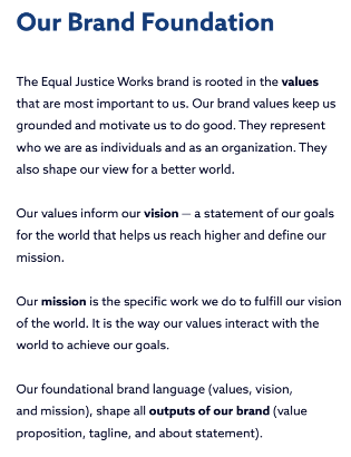 Source: Equal Justice Works brand guide