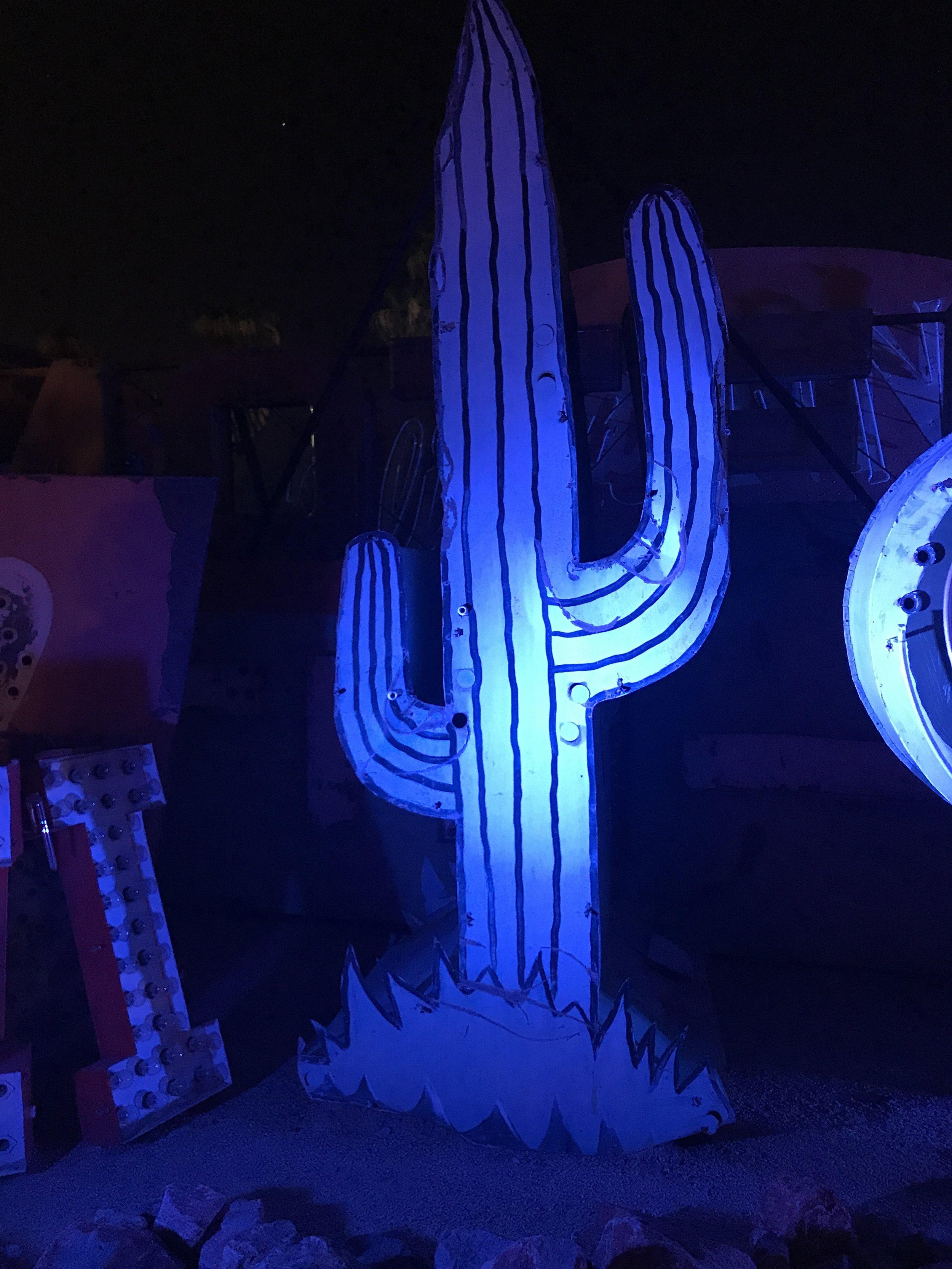 neon museum ghost town las vegas cactus