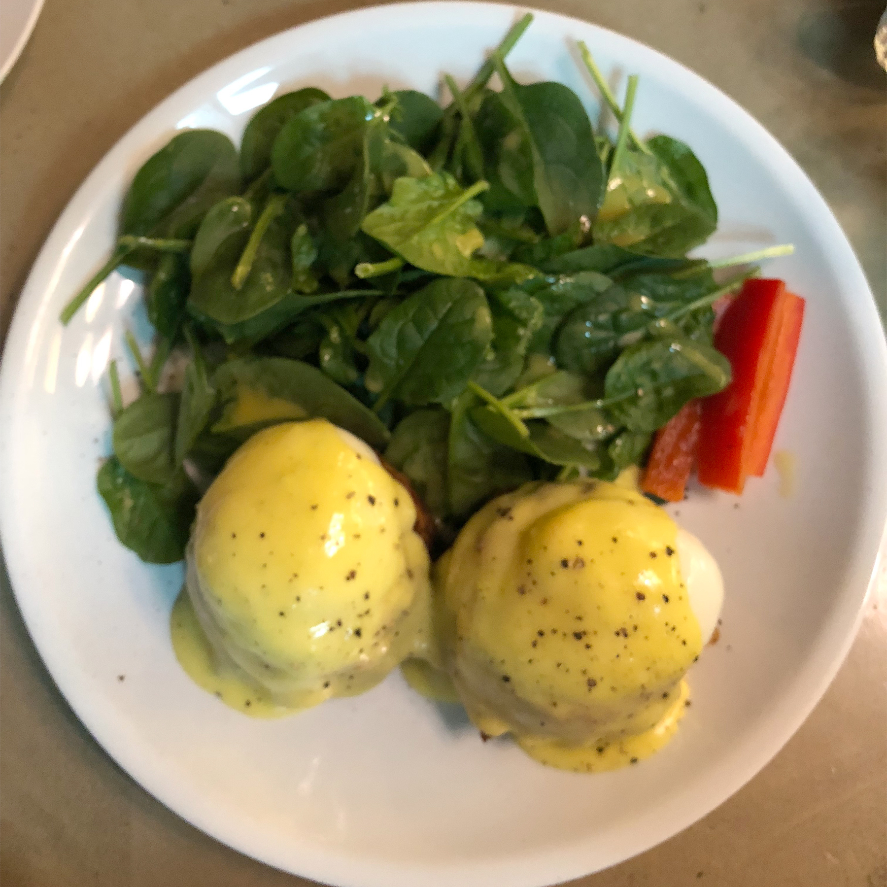 the poached eggs on this benedict were oozy perfection
