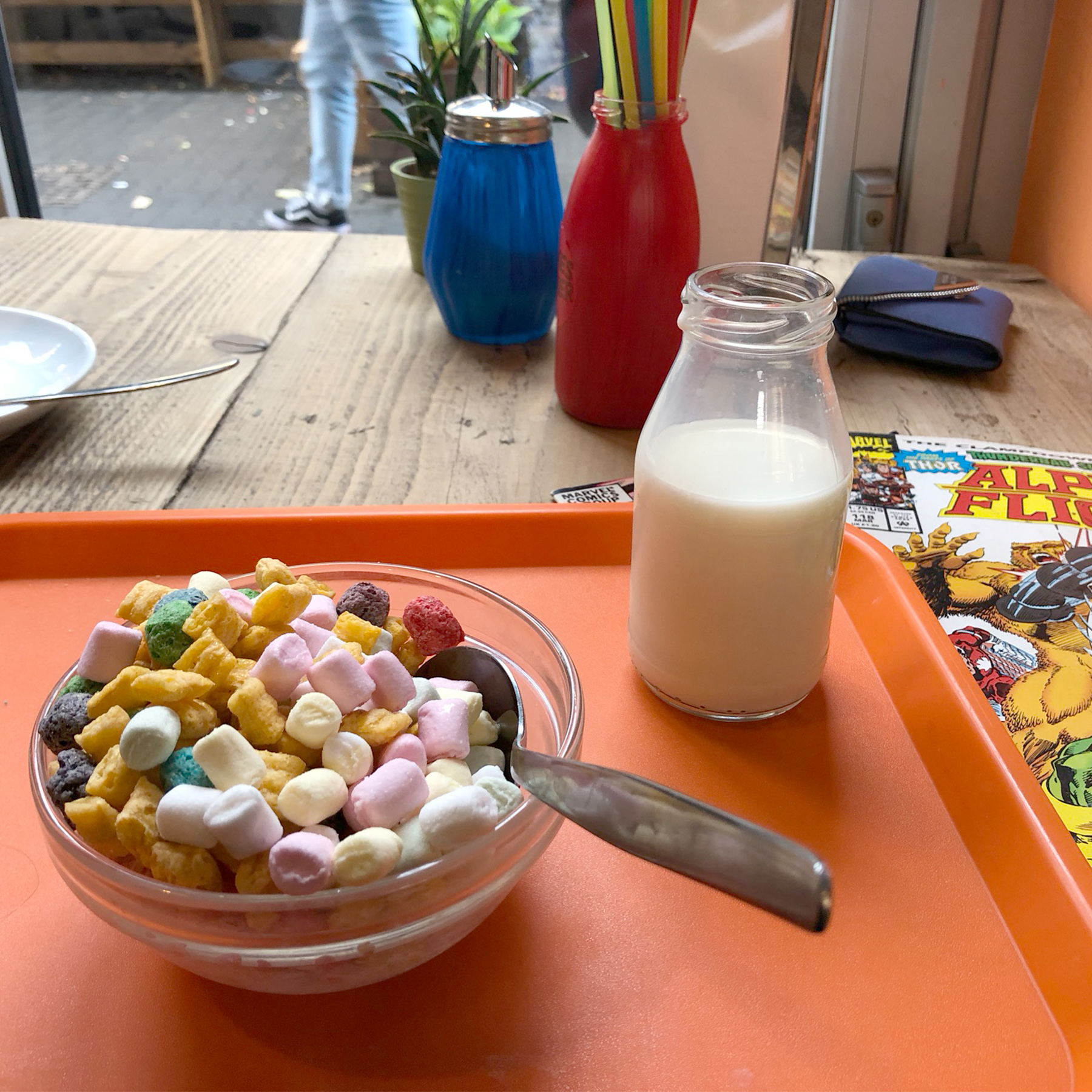 Comics and cereal, a classic combination