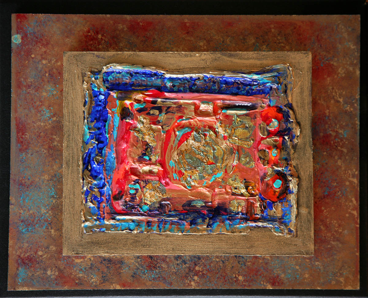 Abstract Red & Blue Colored Box