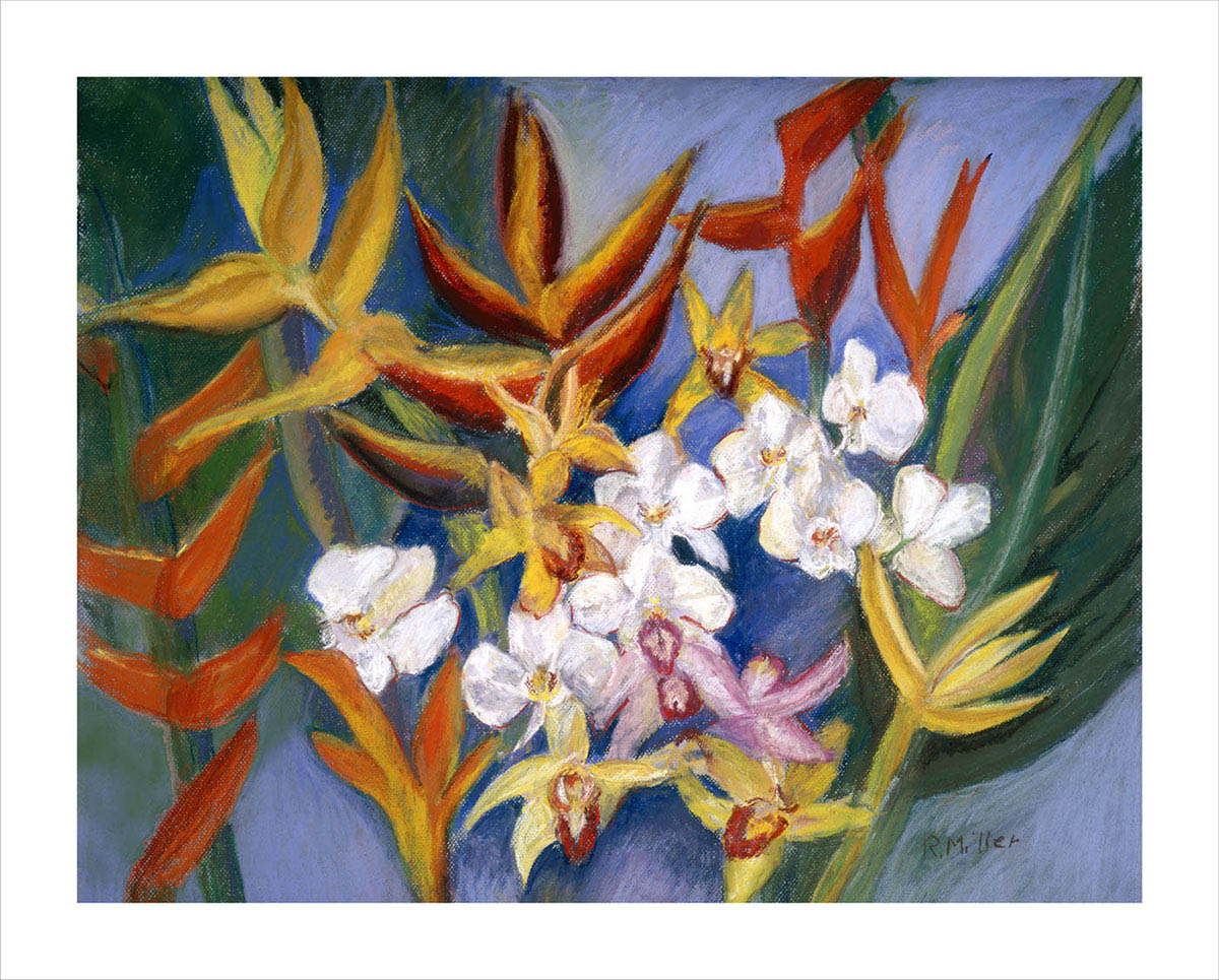 Orchids and Heliconias