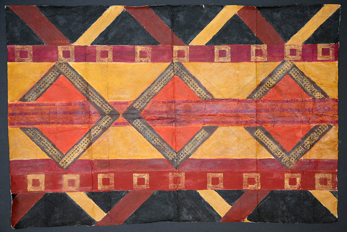 Tapa Squares with Woven Patterns