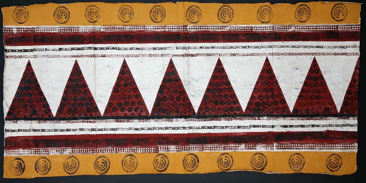 Tapa Wall Decor with Many Sea Urchins