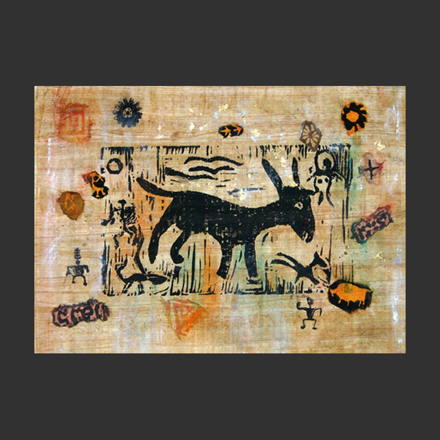 Goat Petroglyph Collage