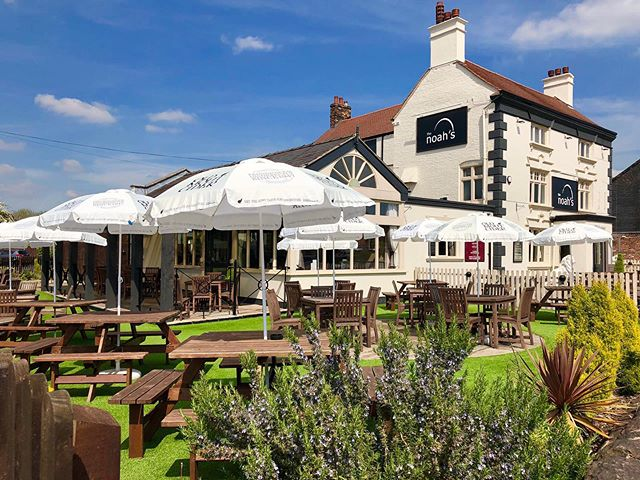 Come visit the garden this summer. The perfect sun trap to enjoy a beverage and sample our summer menu! #noahsbaruk #summer #hartshill #stokeontrent