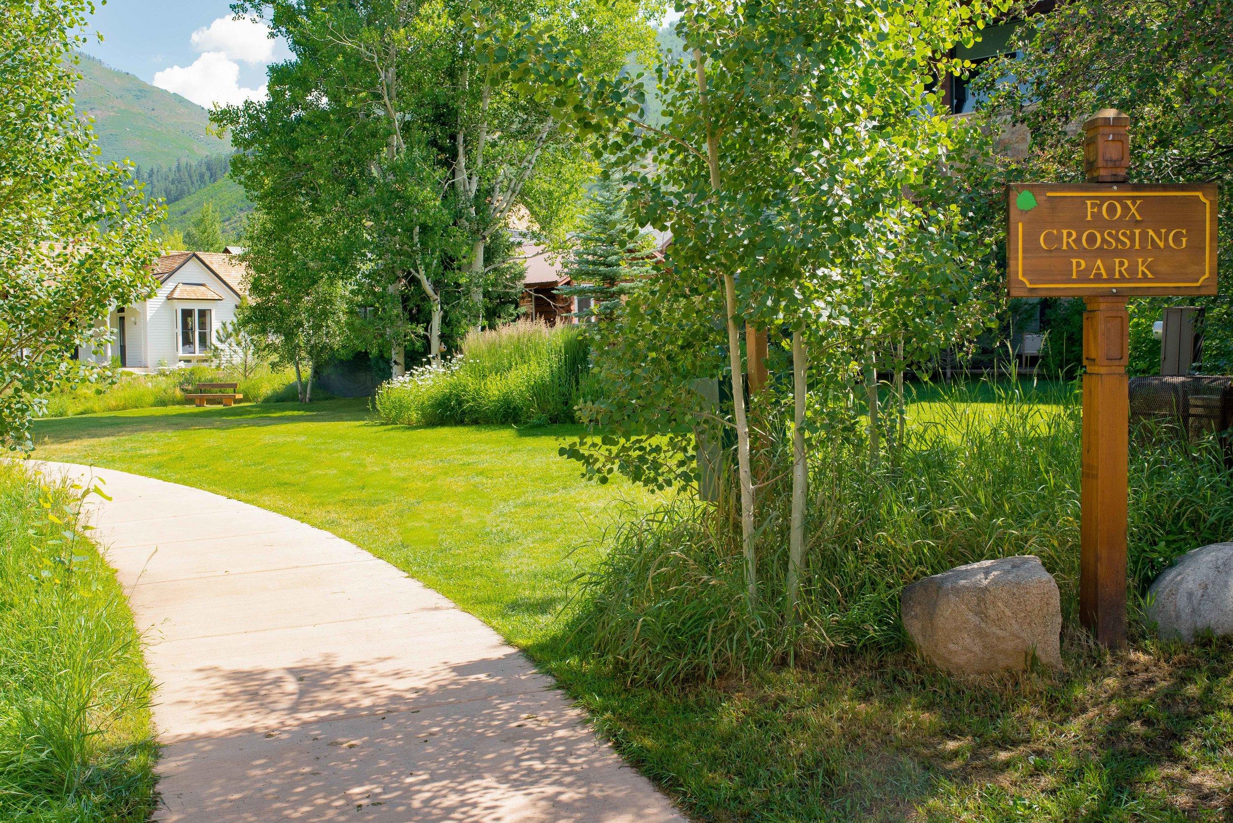 Aspen Fox Crossing Park Landscape