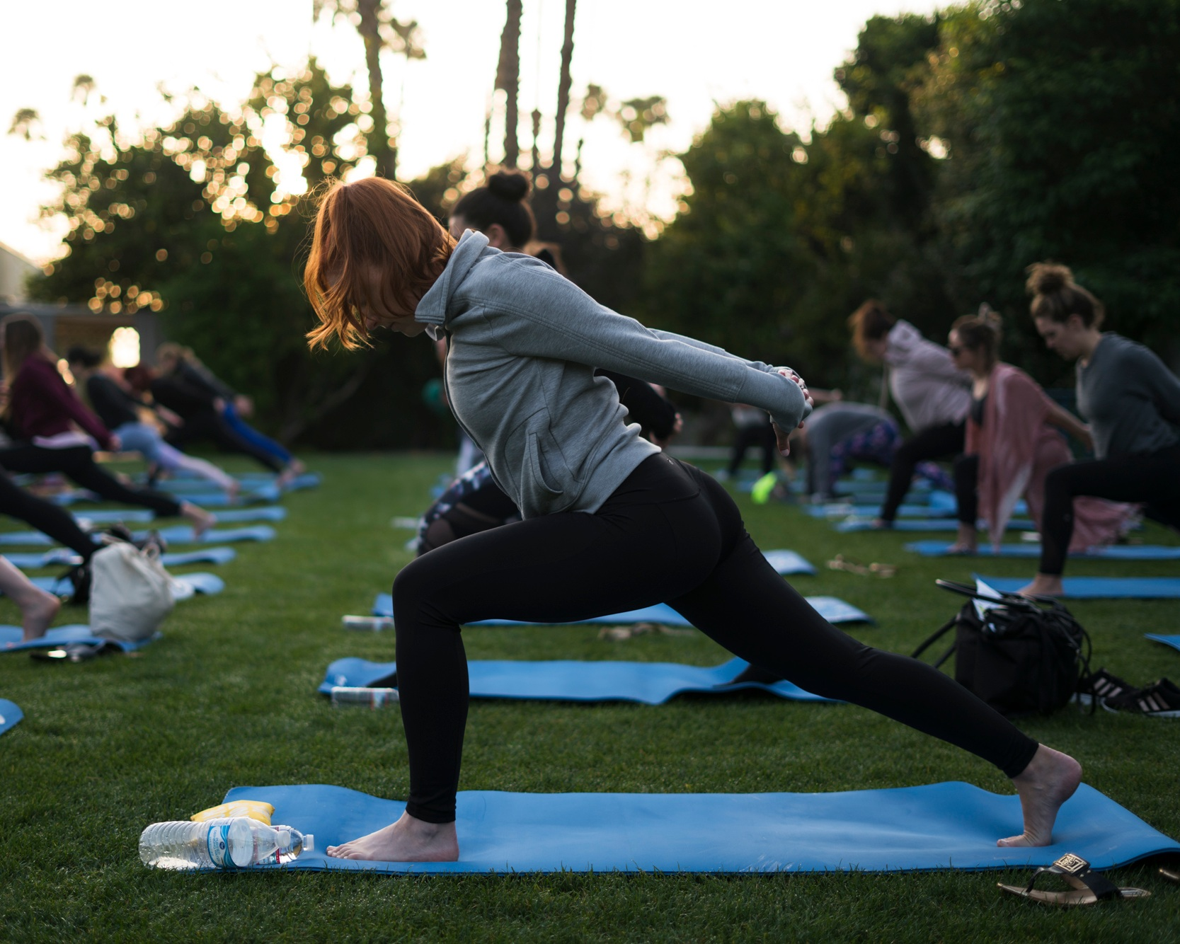 alaska airlines - early morning yoga | palm springs, ca