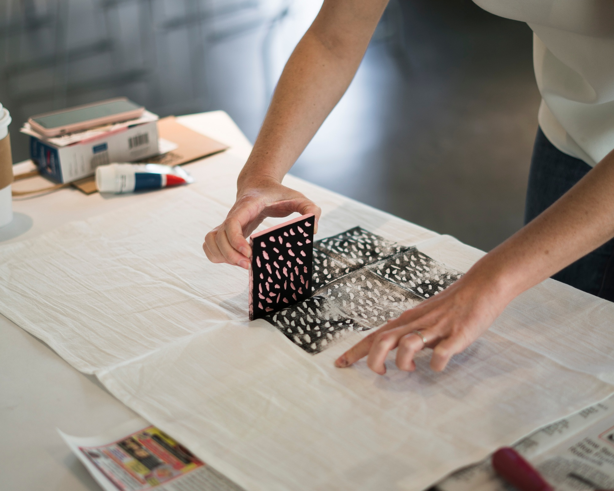 creatively sustained - block printing demo | Alt summit, palm springs, ca