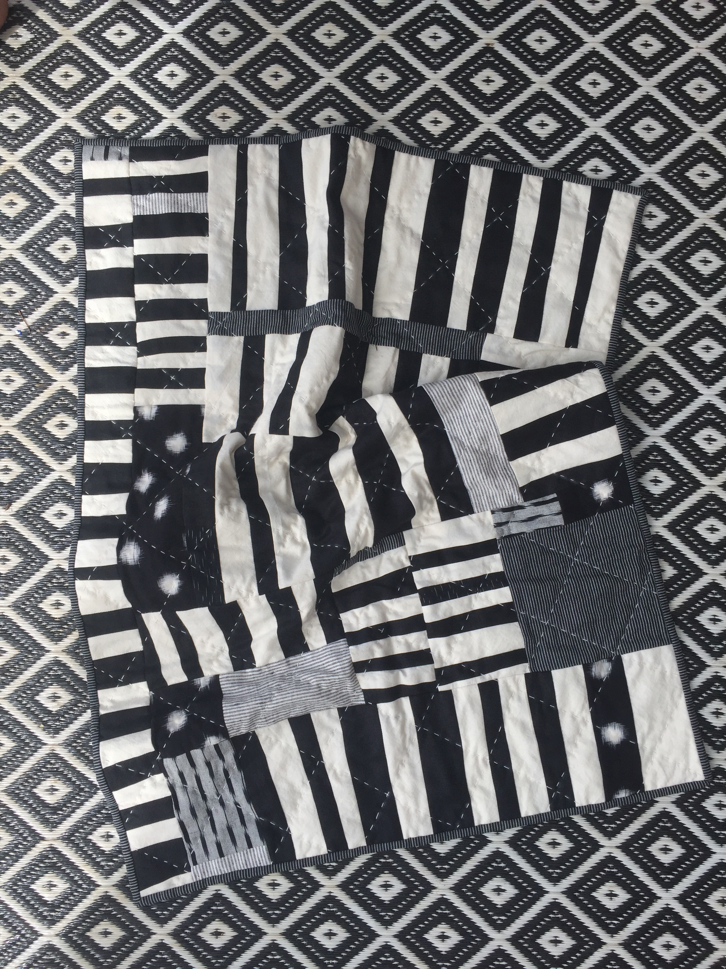 Newborn monochrome quilt commission