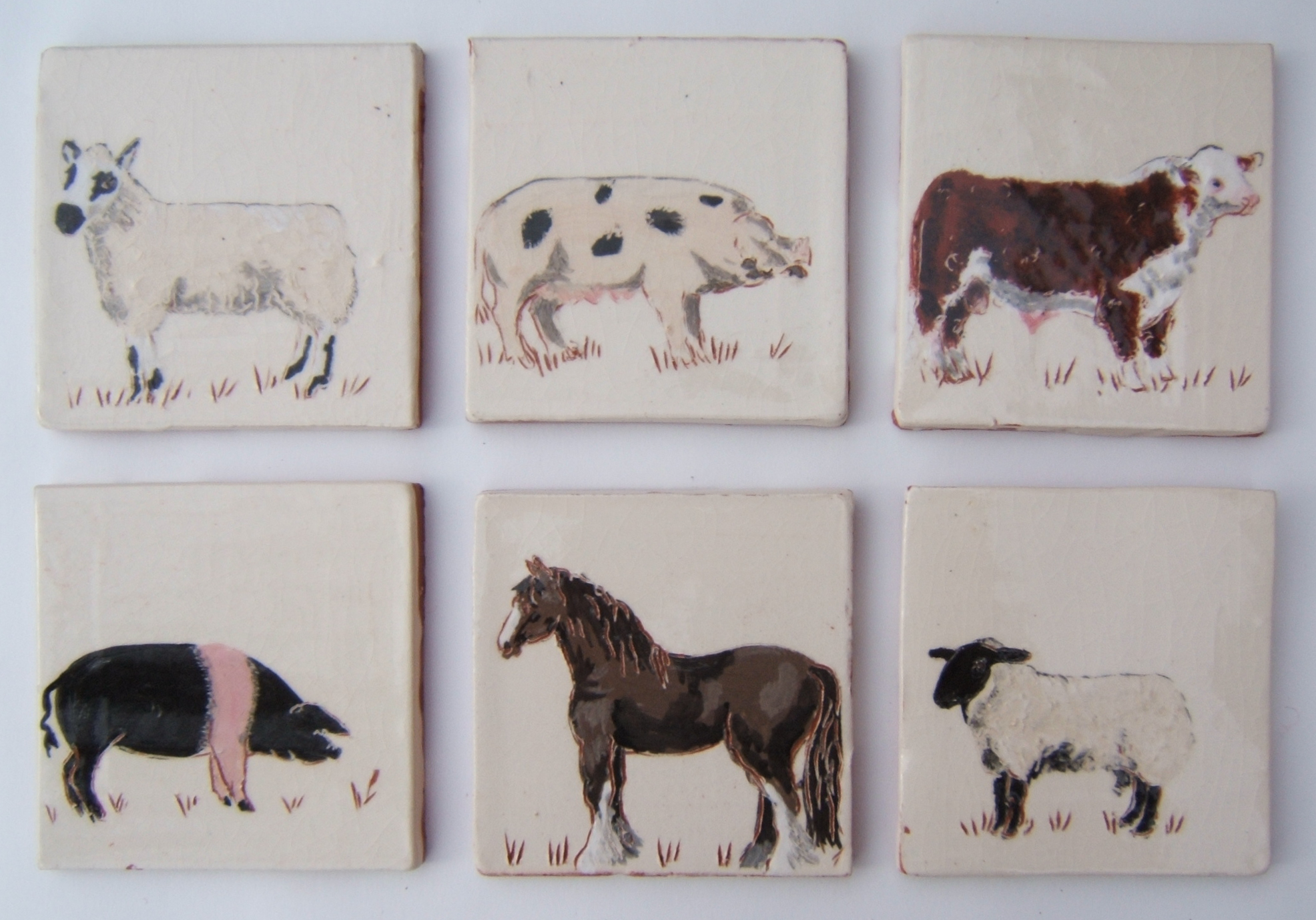 Farmyard animals - We make a range of six – as ever, we will listen sympathetically to requests for different breeds or animals.