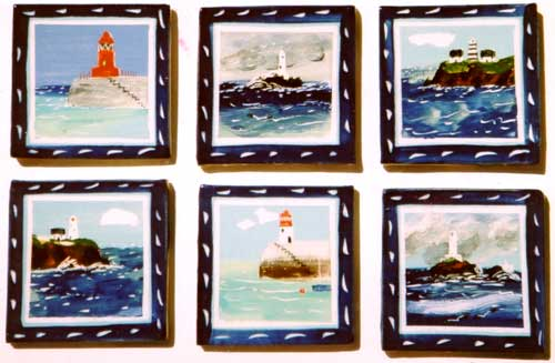 More lighthouses! - These are actual lighthouses around British and Irish waters.