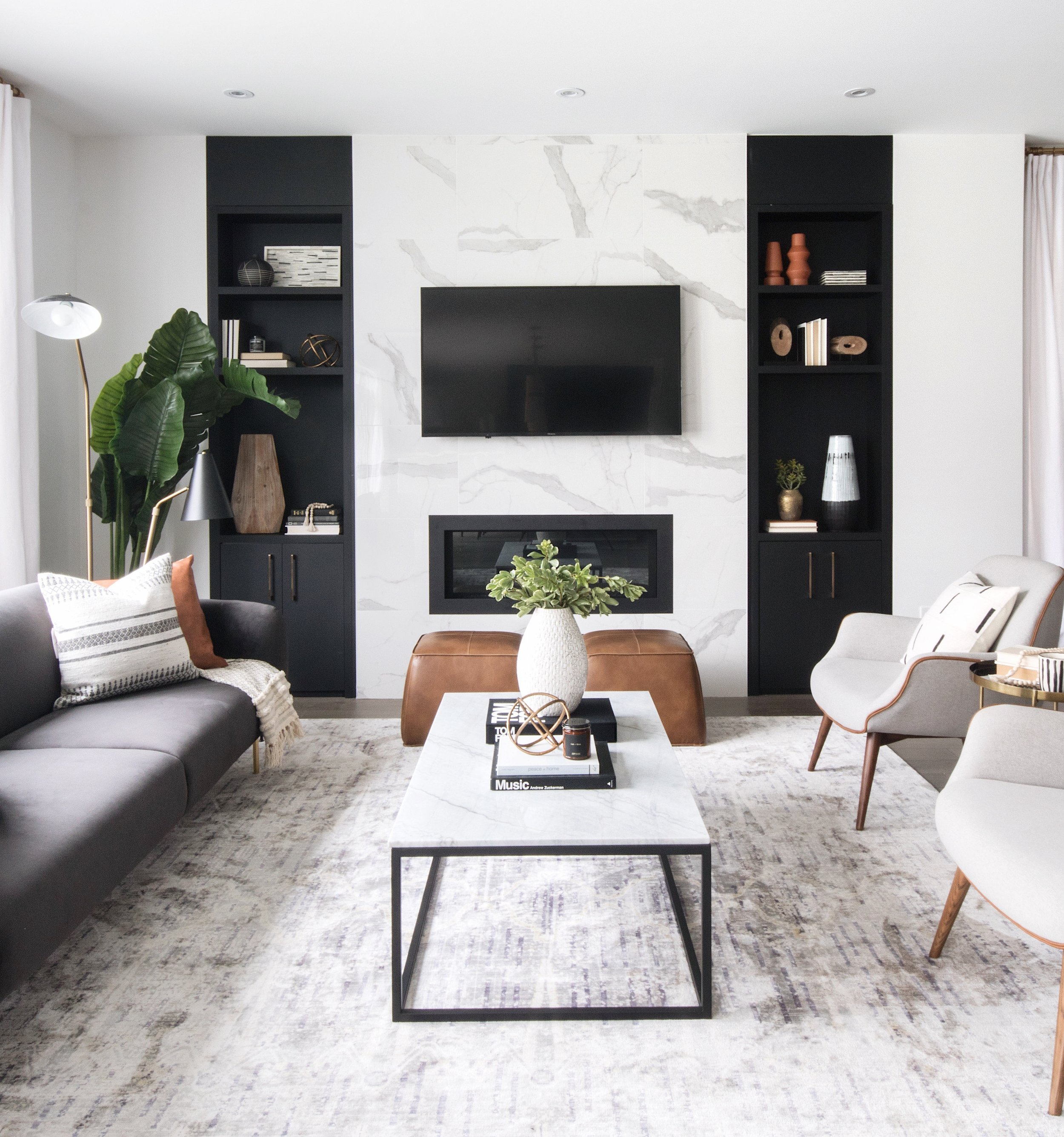 Leclair Decor's Cedarbreeze Project is both modern and cozy. The Ottawa based interior design firm created a home that feels sleek and cool, but still approachable.