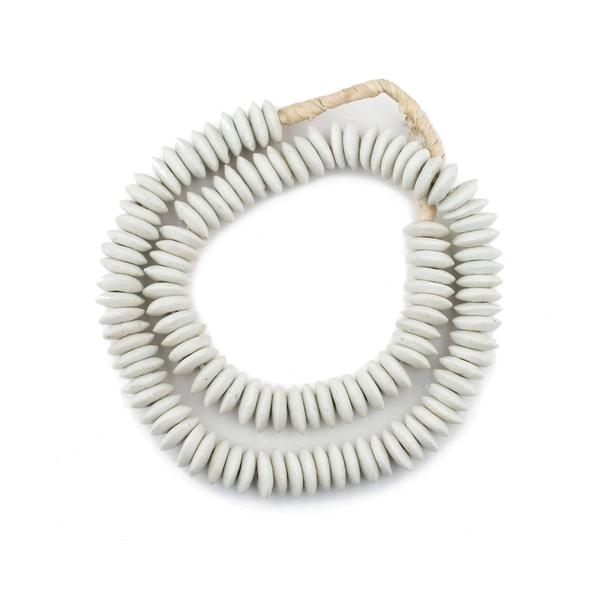 White Ashanti Glass Beads