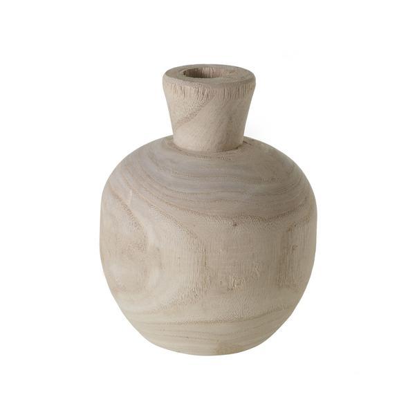 Wooden Round Vase