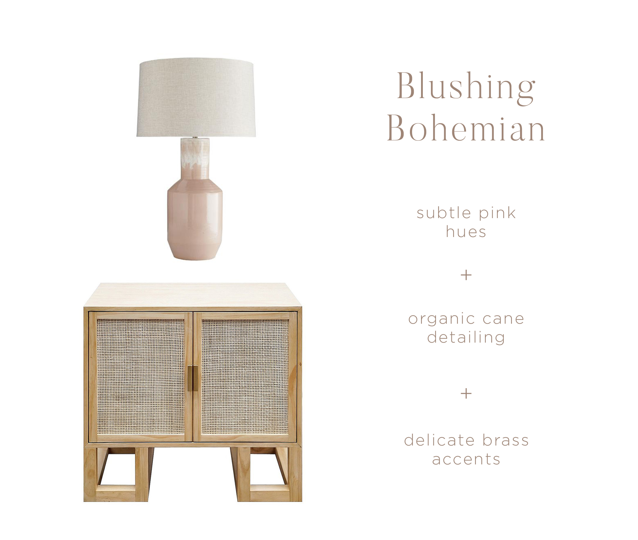 Shop the look:    Rose Table Lamp    |    Leneyah Side Table
