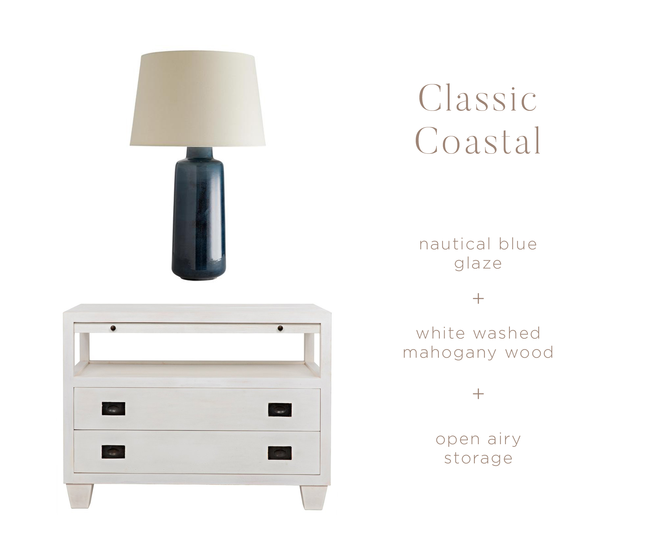 Shop the look:    Hyannis Table Lamp    |    Ken Side Table
