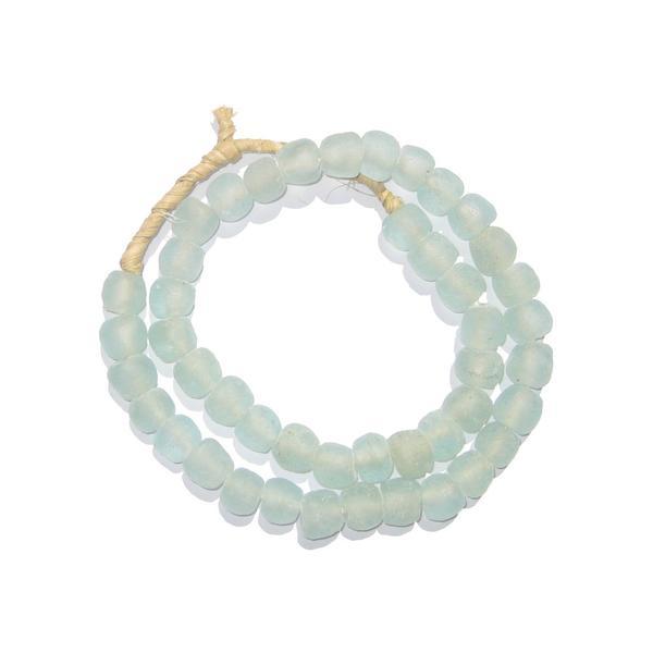 Green Aqua Recycled Glass Beads