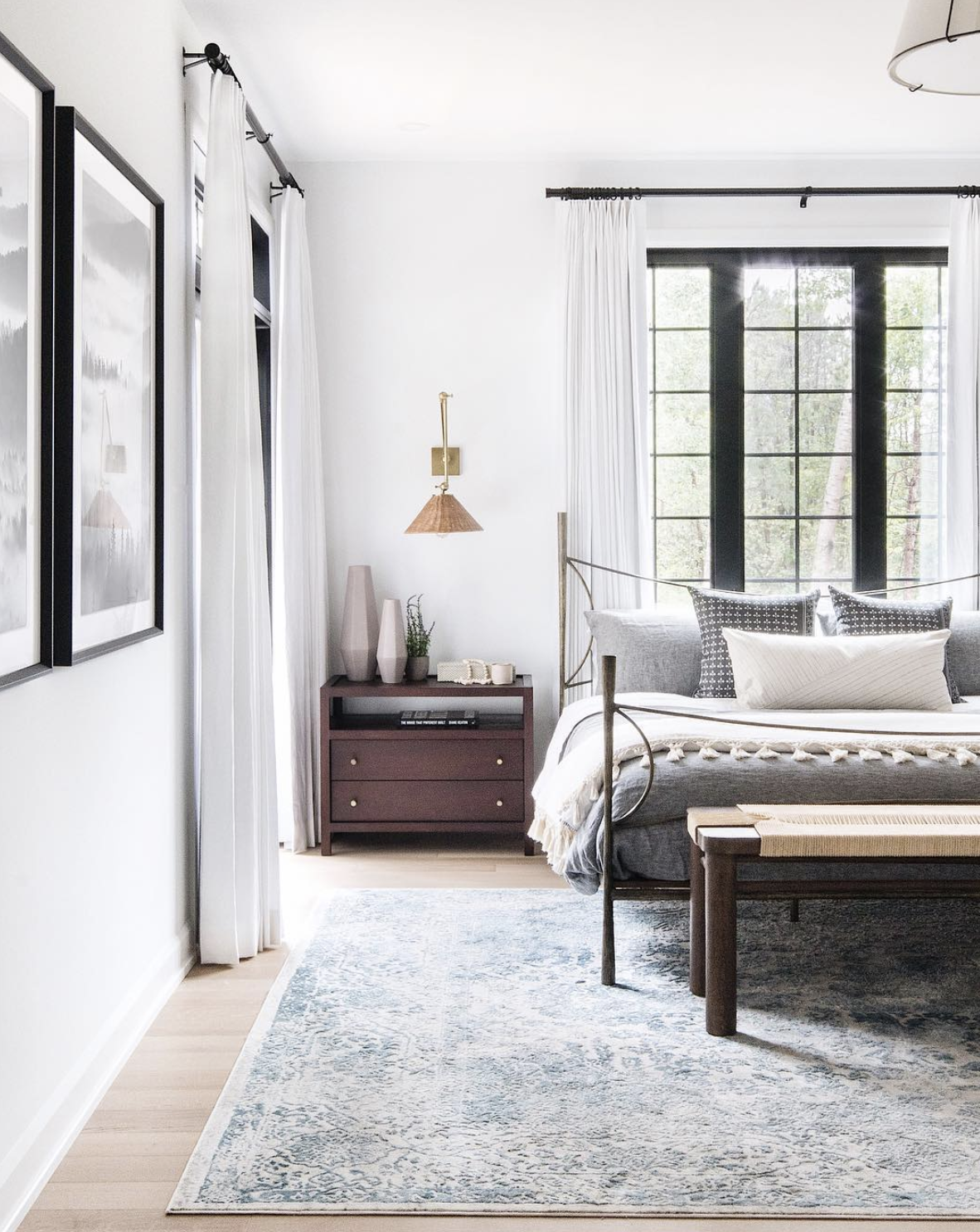 The  Cirque Amalfi Rug  in size 8x10 Rug in the Carp Master Bedroom Project |  Price: $899 CAD