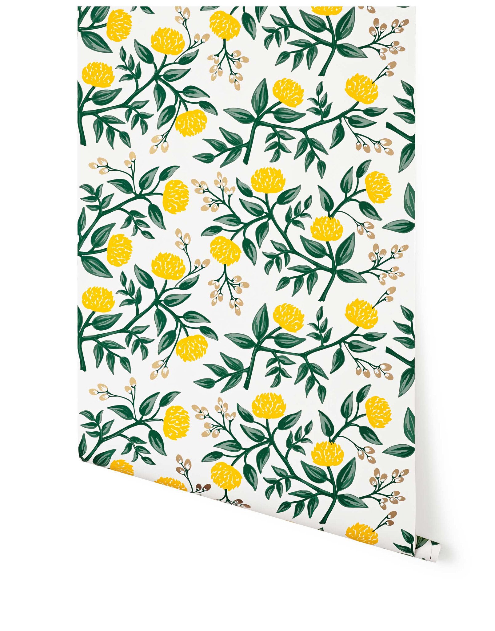 Hygge & West Yellow Peonies Wallpaper
