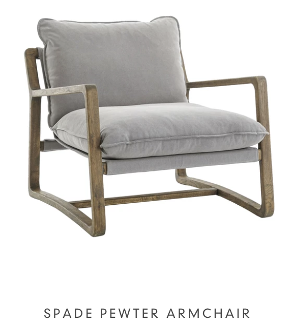 Spade Pewter Armchair from LD Shoppe Ottawa furniture store