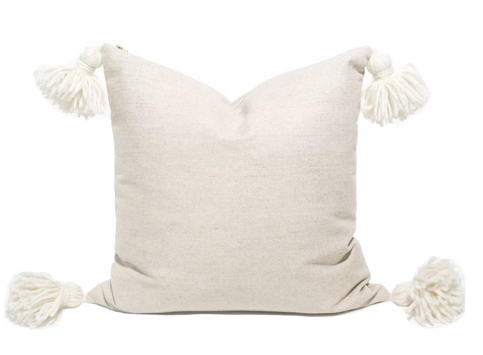 Happy Tassel Pillow